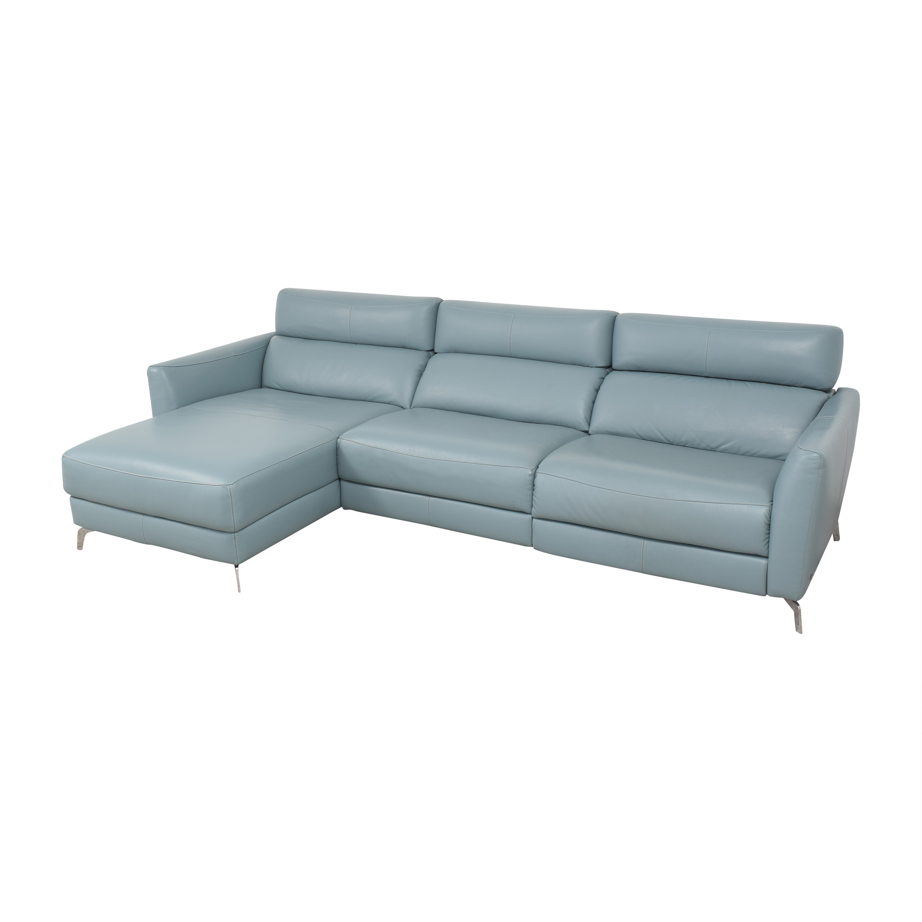 Natuzzi Reclining Sectional with Chaise sale
