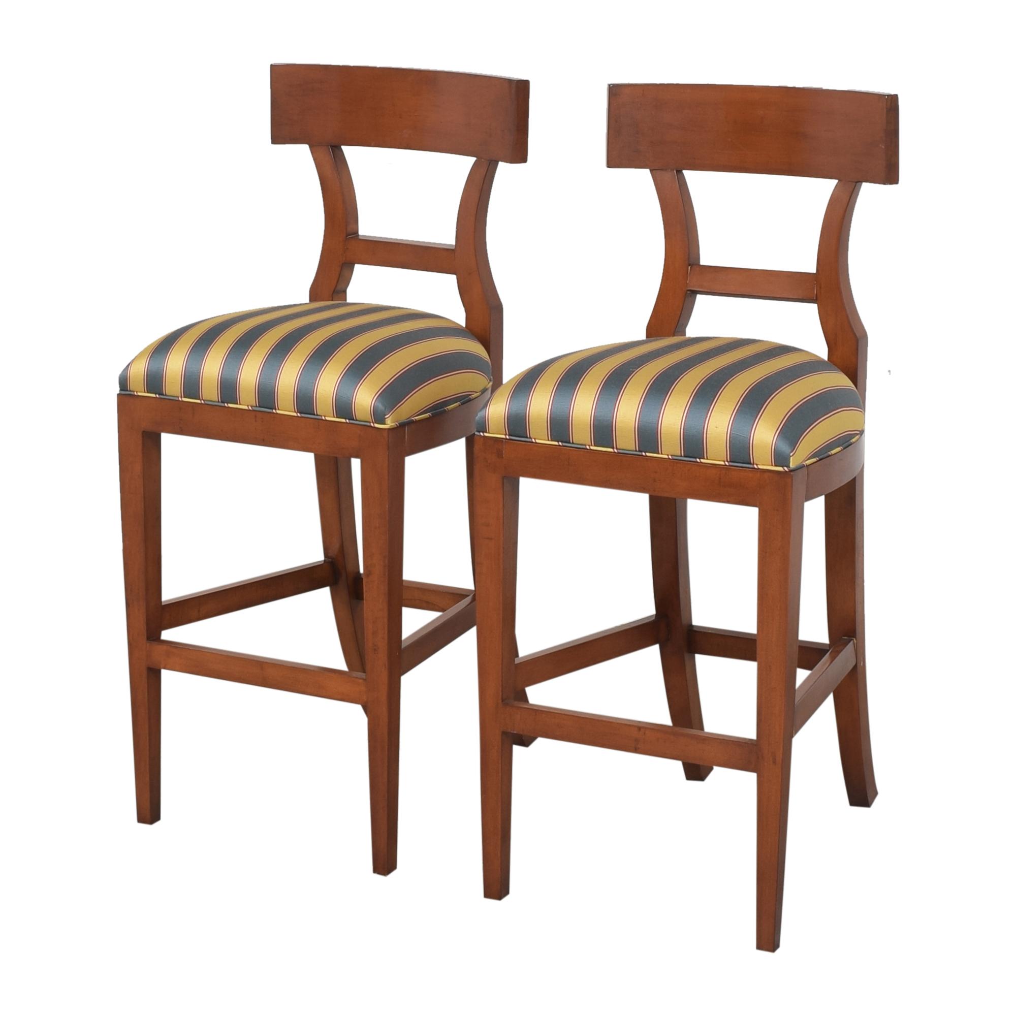shop Niedermaier Stripe Upholstered Bar Stools Niedermaier Furniture