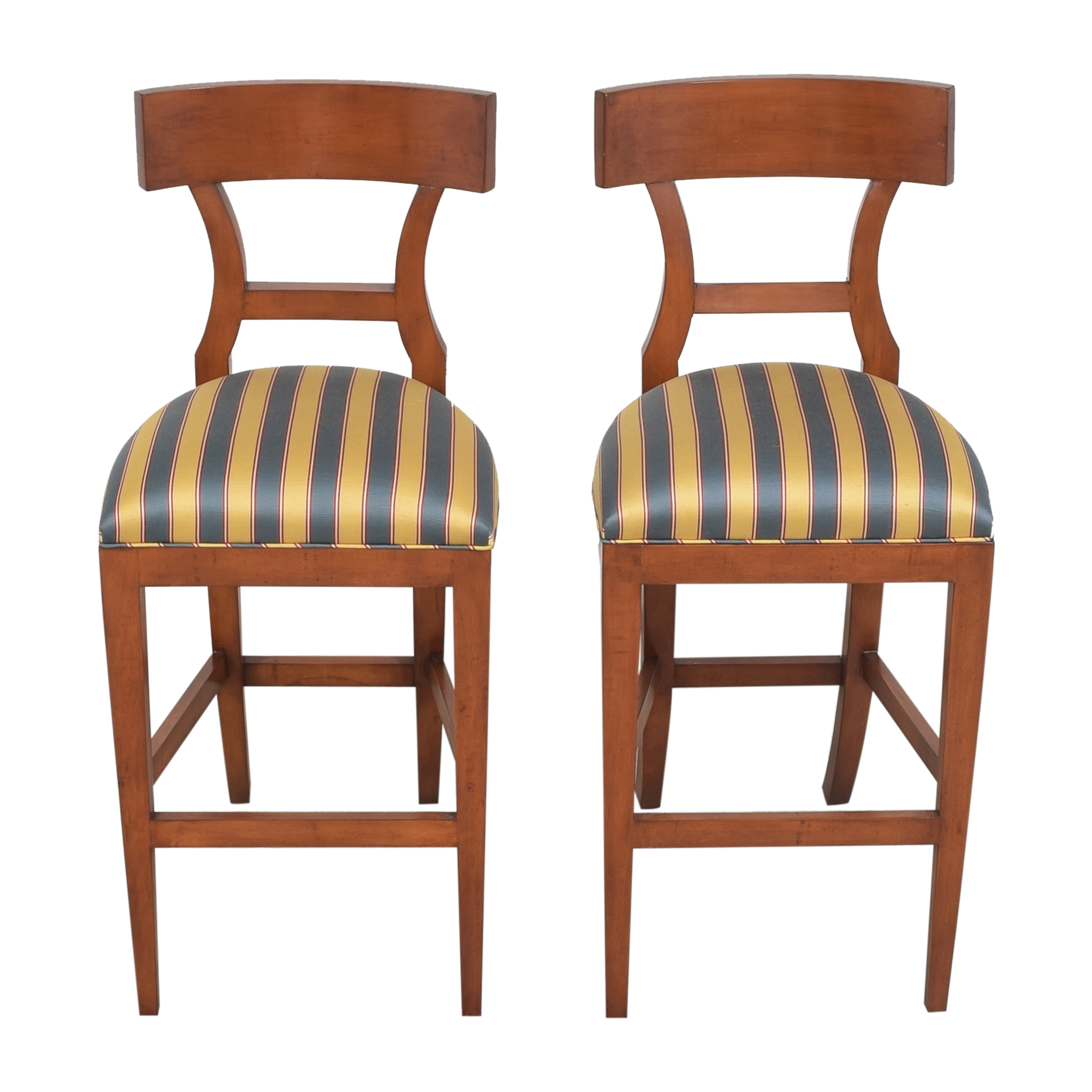 Niedermaier Furniture Niedermaier Stripe Upholstered Bar Stools Stools