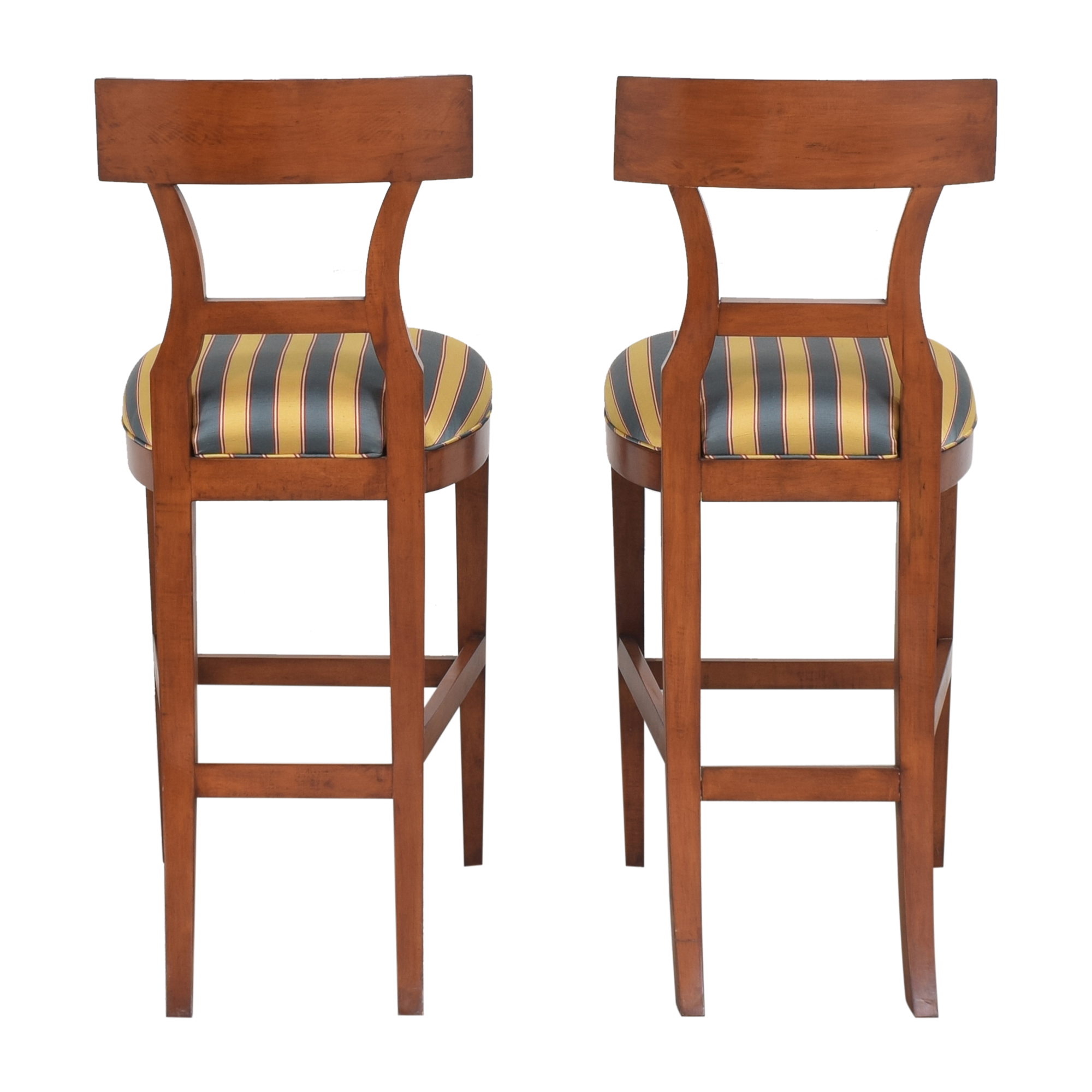Niedermaier Furniture Niedermaier Stripe Upholstered Bar Stools used