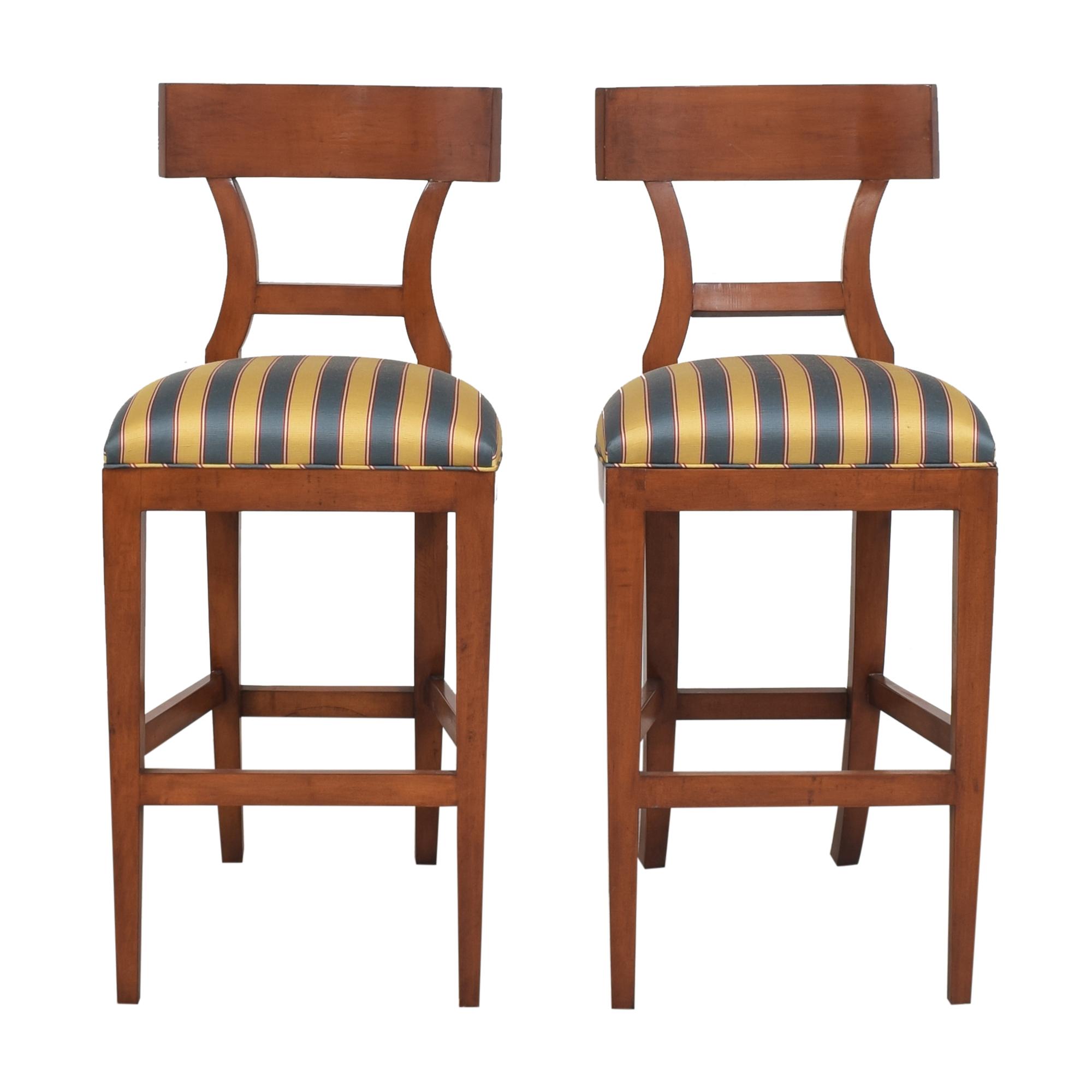 buy Niedermaier Furniture Niedermaier Stripe Upholstered Bar Stools online