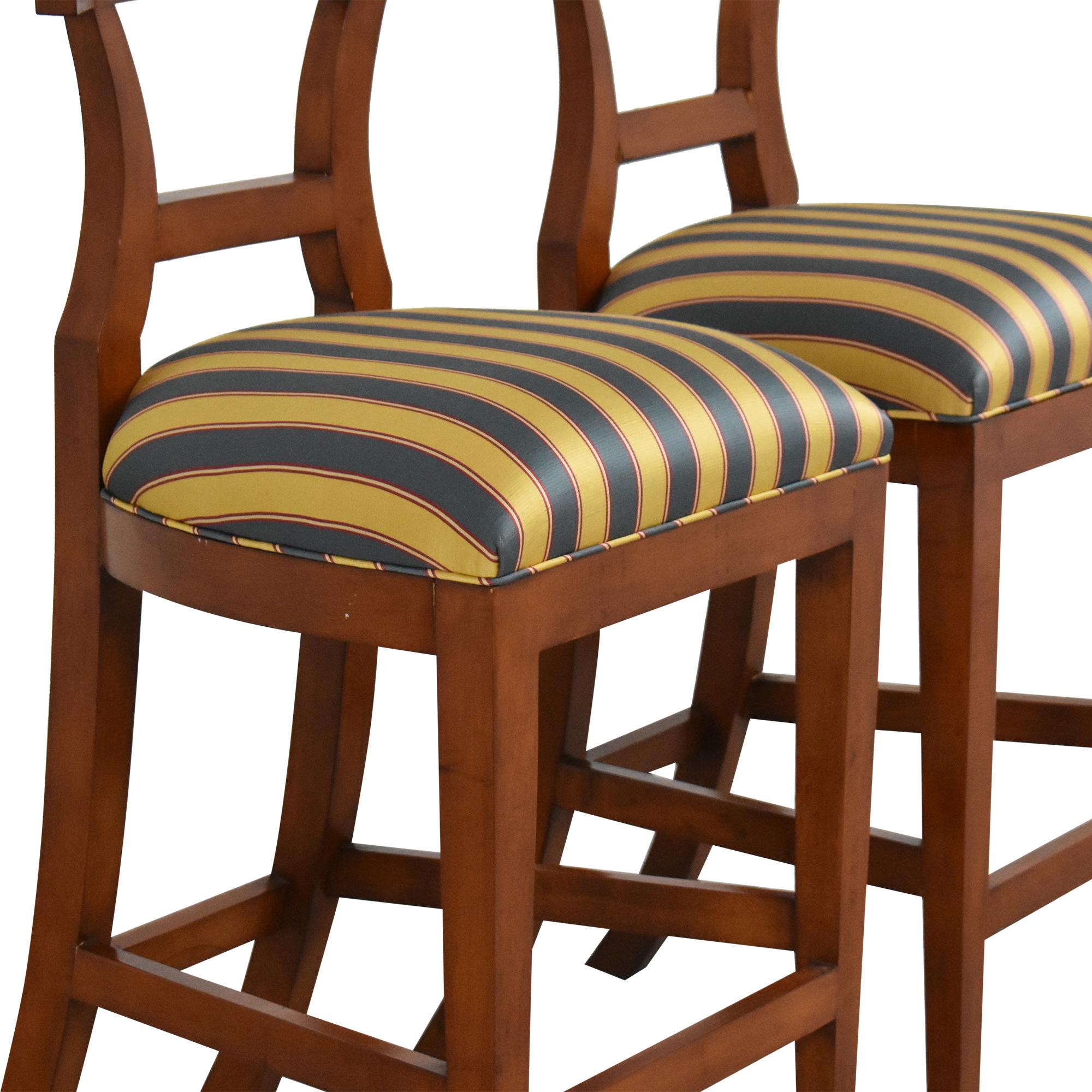 buy Niedermaier Stripe Upholstered Bar Stools Niedermaier Furniture Chairs