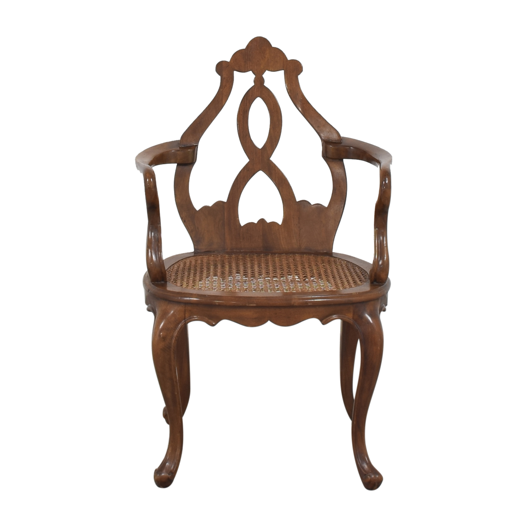 Cane Seat Accent Chair ct
