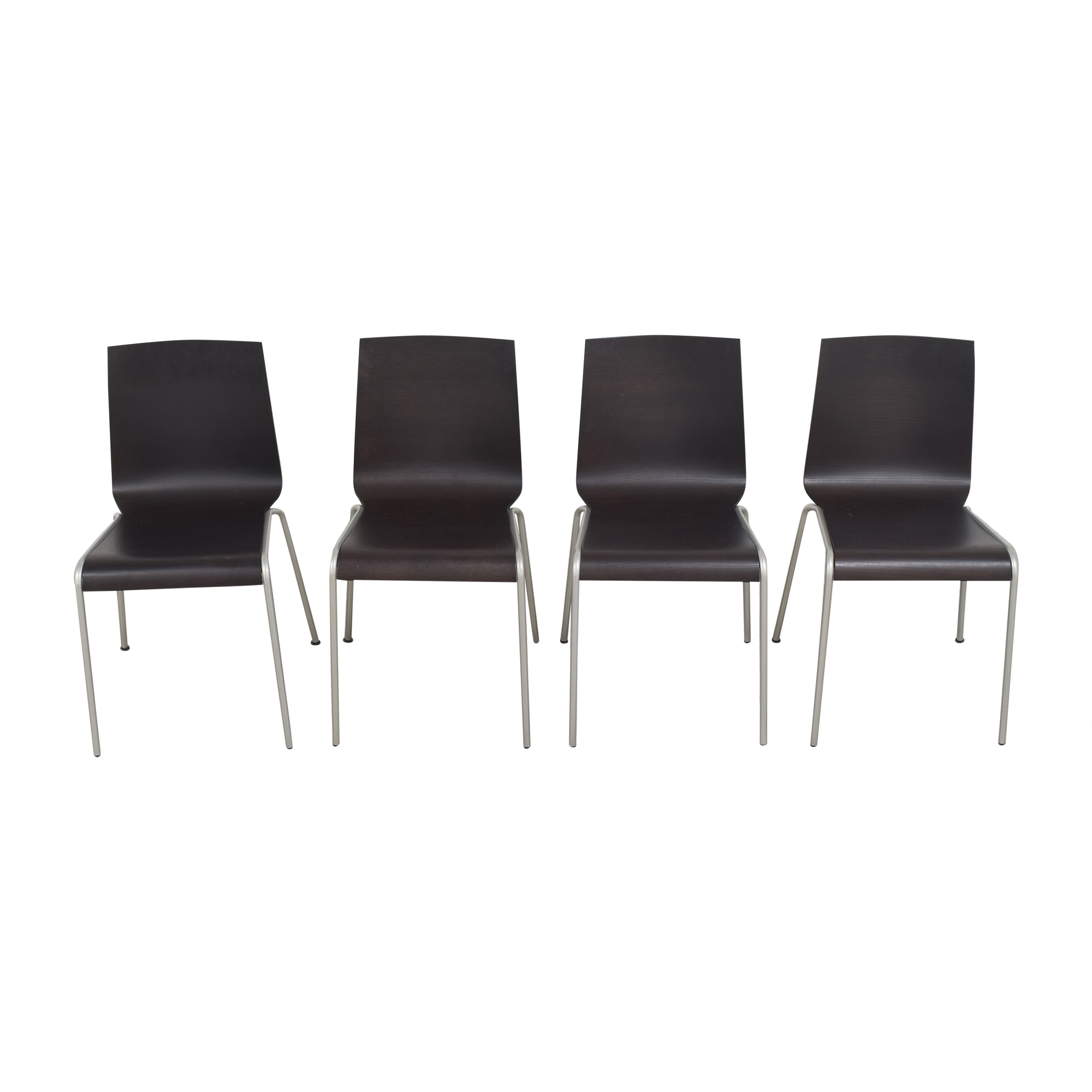 Calligaris Calligaris Dining Chairs dark brown and silver