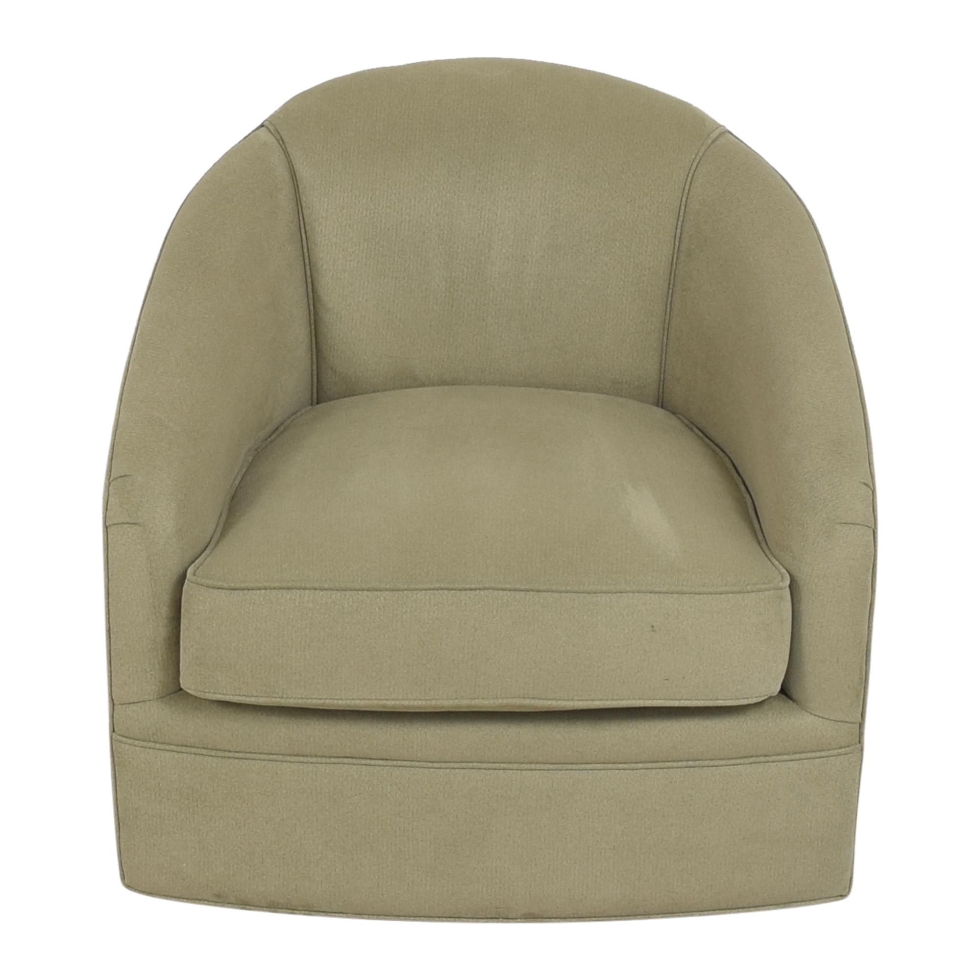 shop Maurice Villency Cushion Tub Swivel Chair Maurice Villency Accent Chairs