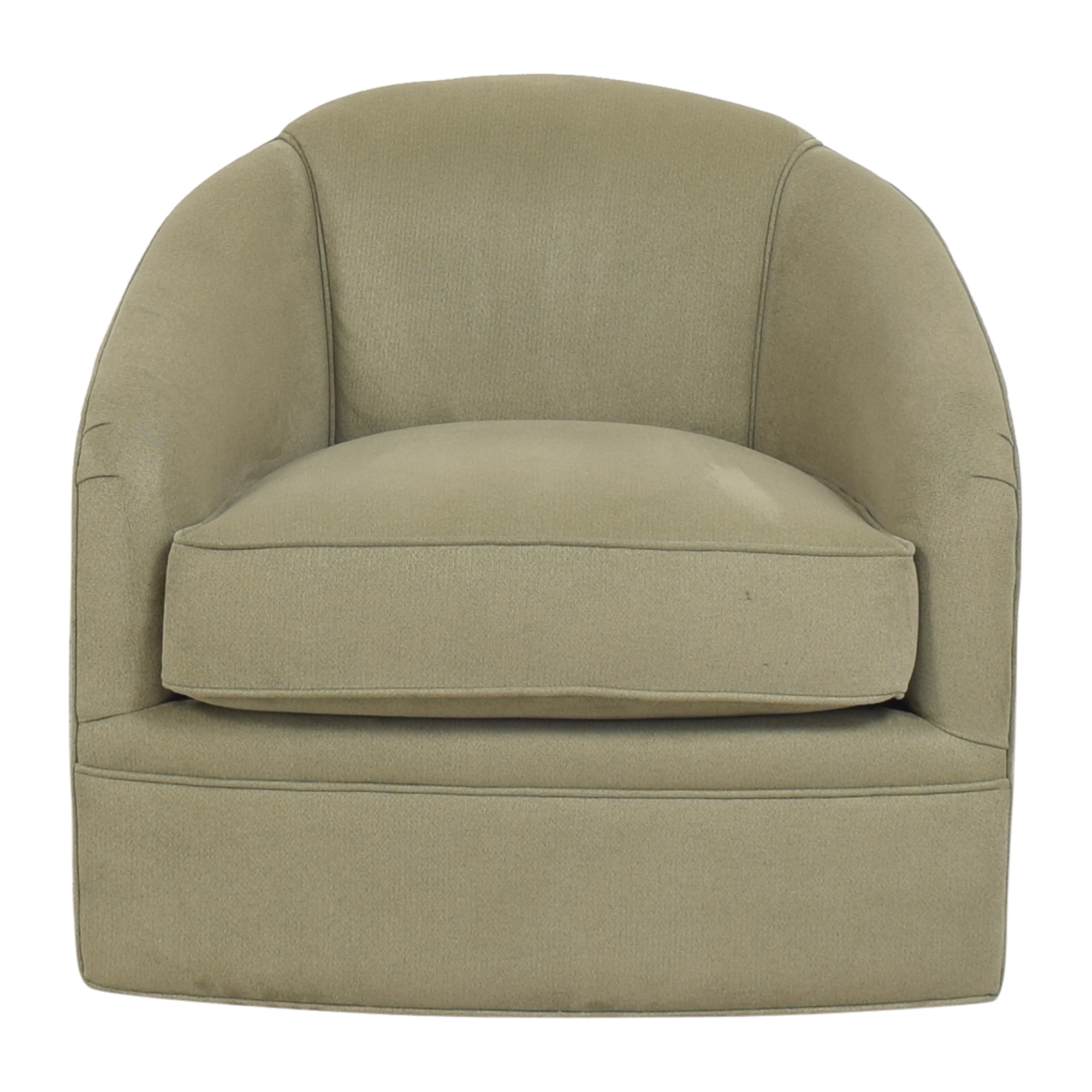 Maurice Villency Cushion Tub Swivel Chair sale
