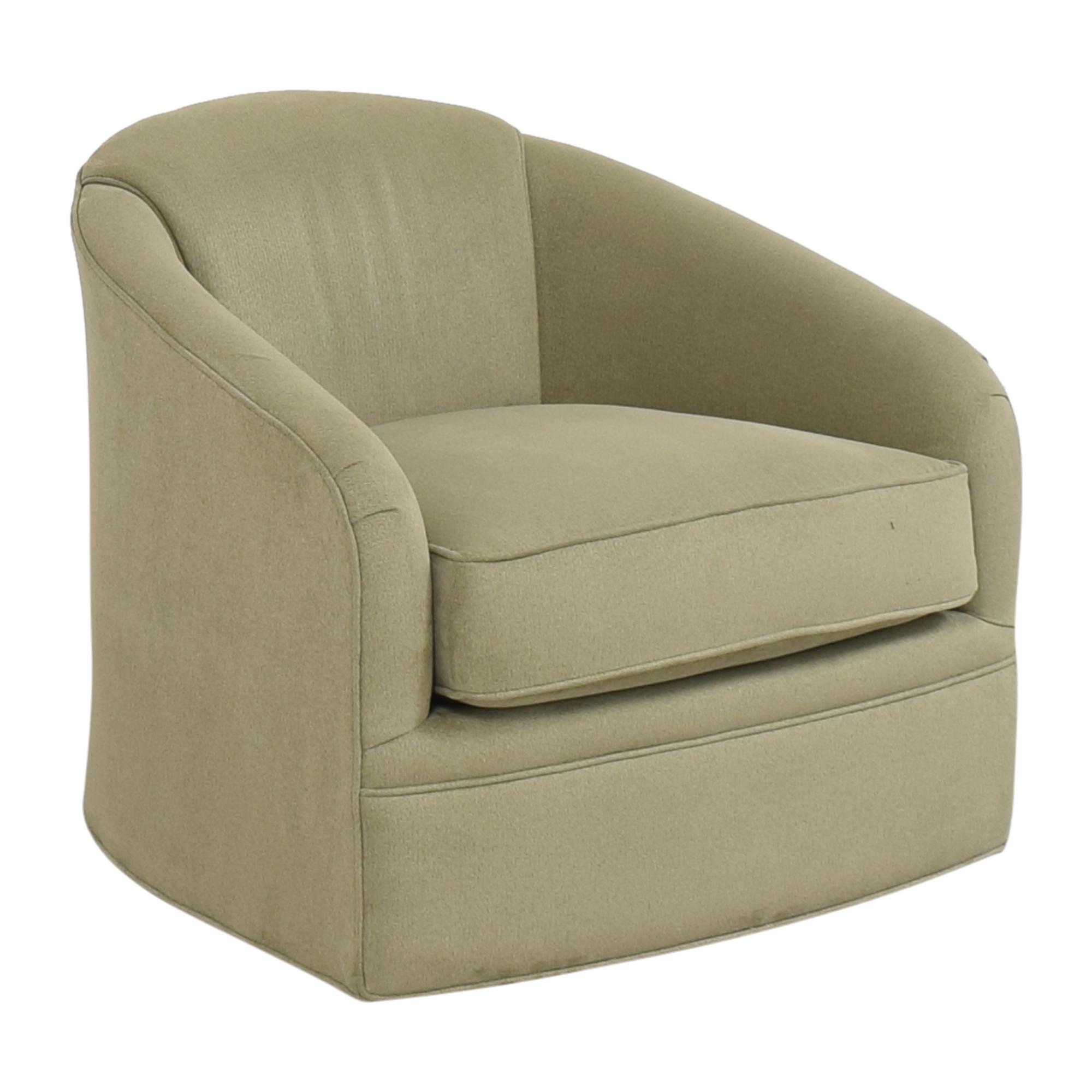 buy Maurice Villency Maurice Villency Cushion Tub Swivel Chair online