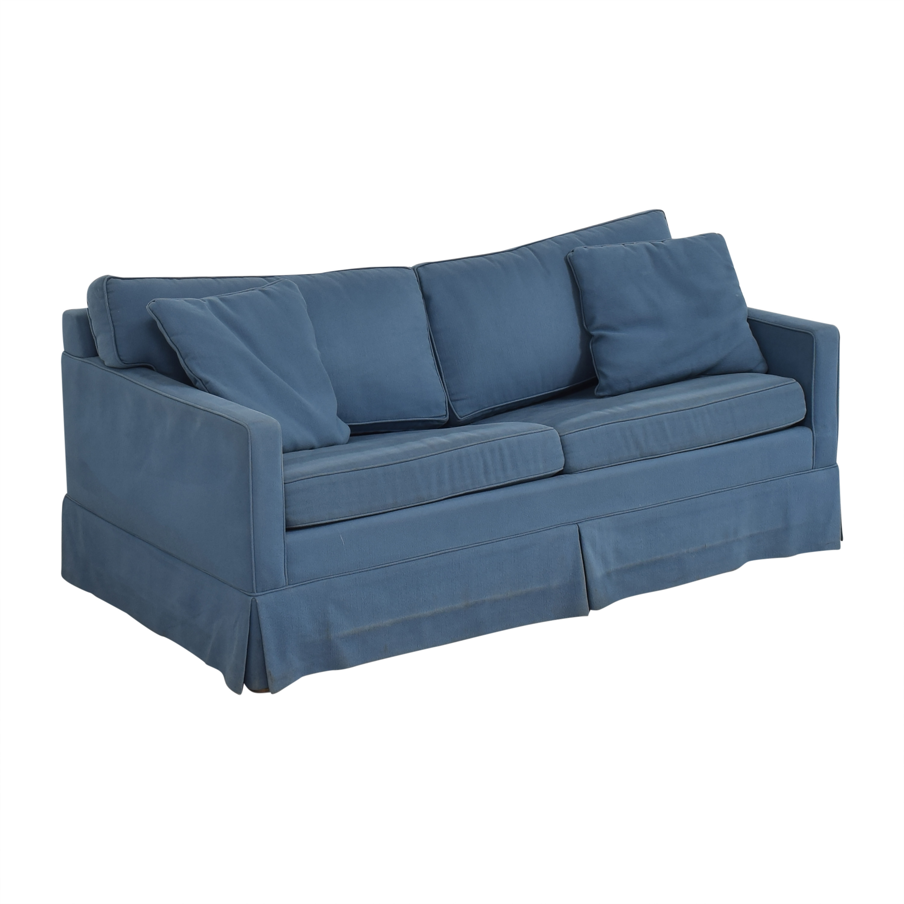 Carlyle Carlyle Two Cushion Skirted Sleeper Sofa second hand