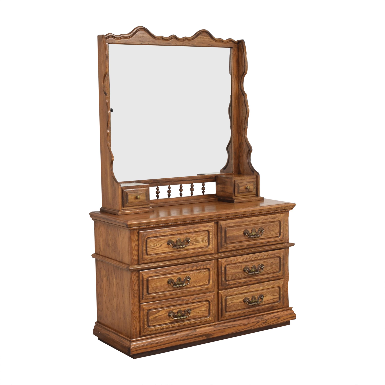 Lea Furniture Lea Furniture Dresser with Mirror dimensions