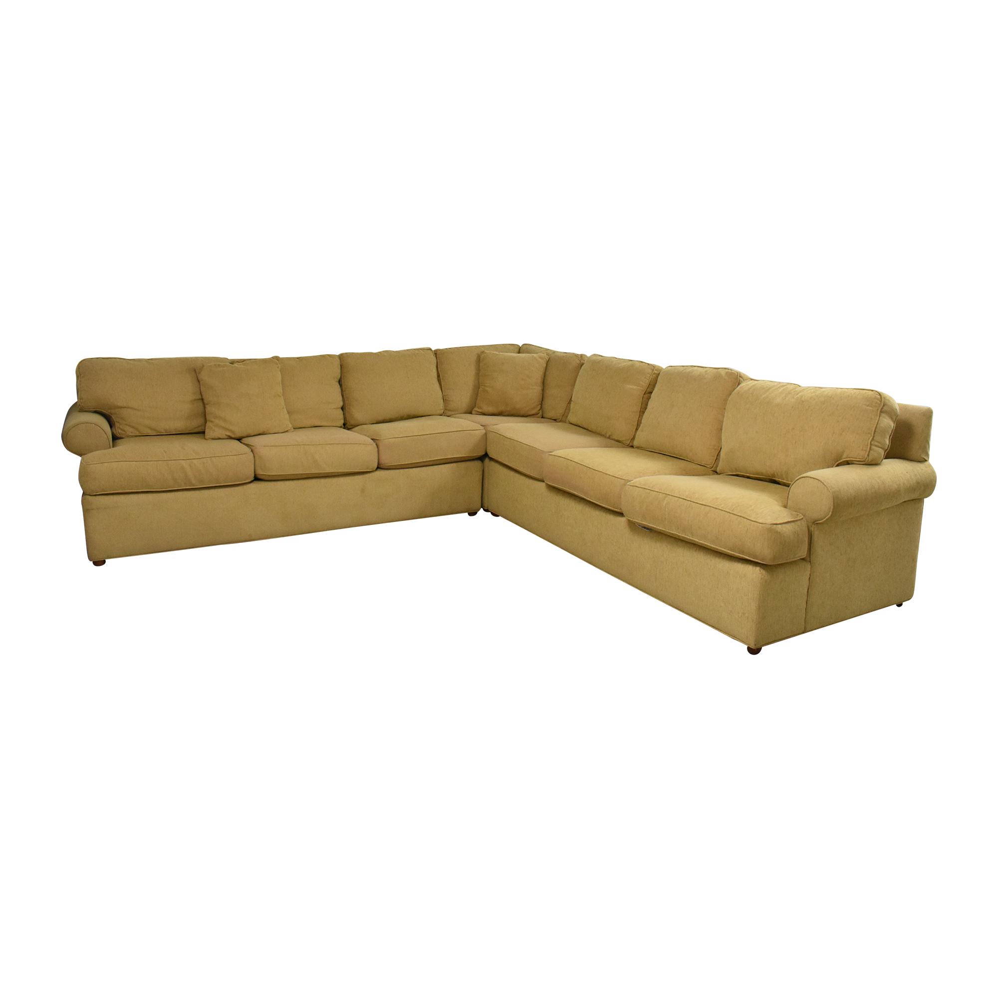 Ethan Allen Ethan Allen Roll Arm Sectional Sofa