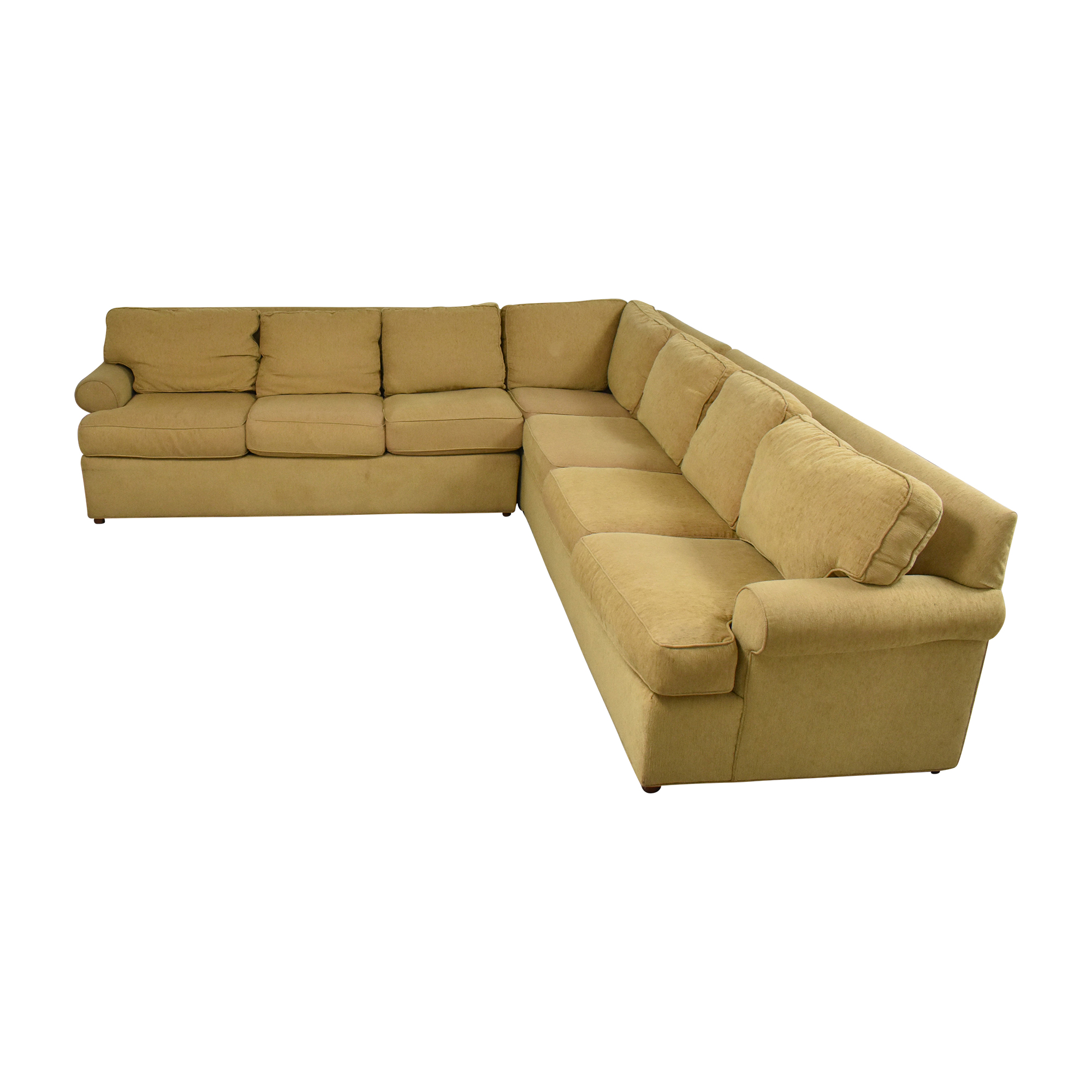 shop Ethan Allen Roll Arm Sectional Sofa Ethan Allen