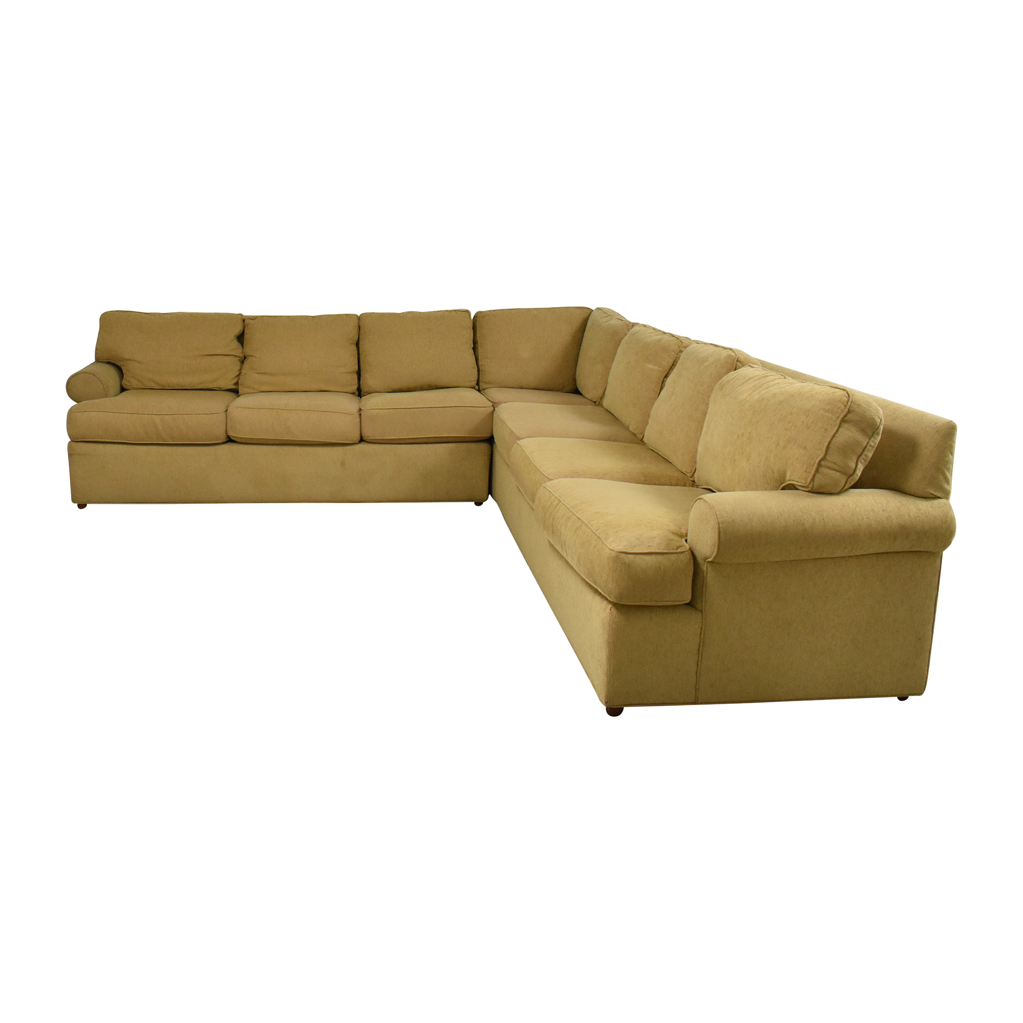 Ethan Allen Ethan Allen Roll Arm Sectional Sofa nj