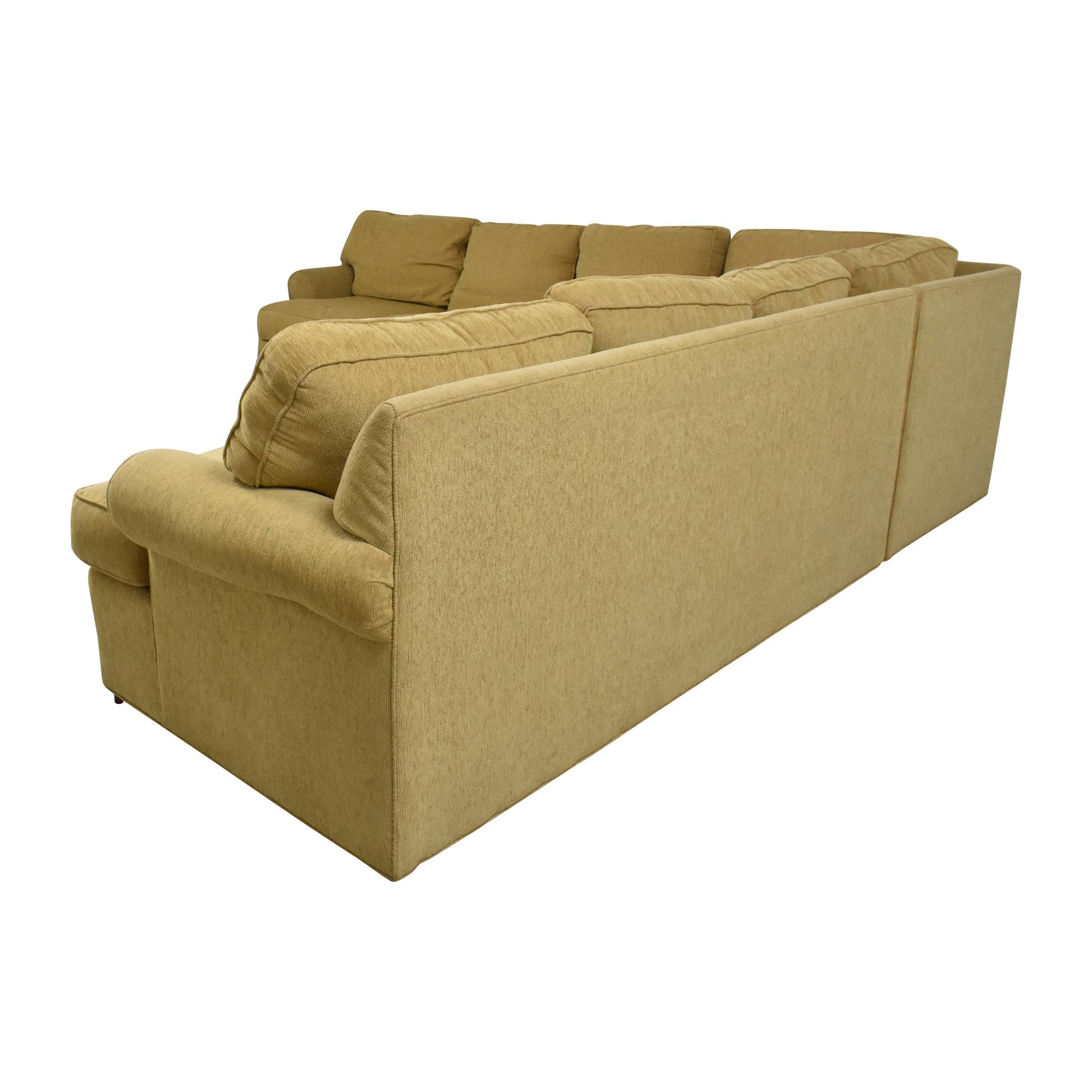 Ethan Allen Ethan Allen Roll Arm Sectional Sofa ma