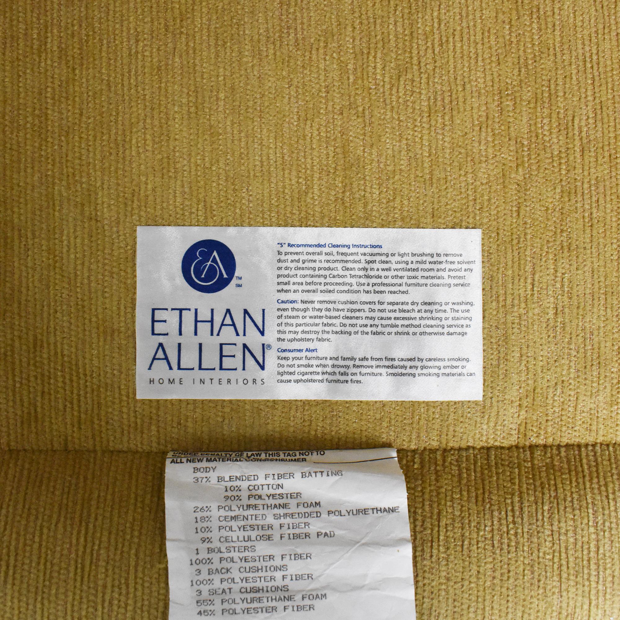 Ethan Allen Ethan Allen Roll Arm Sectional Sofa discount