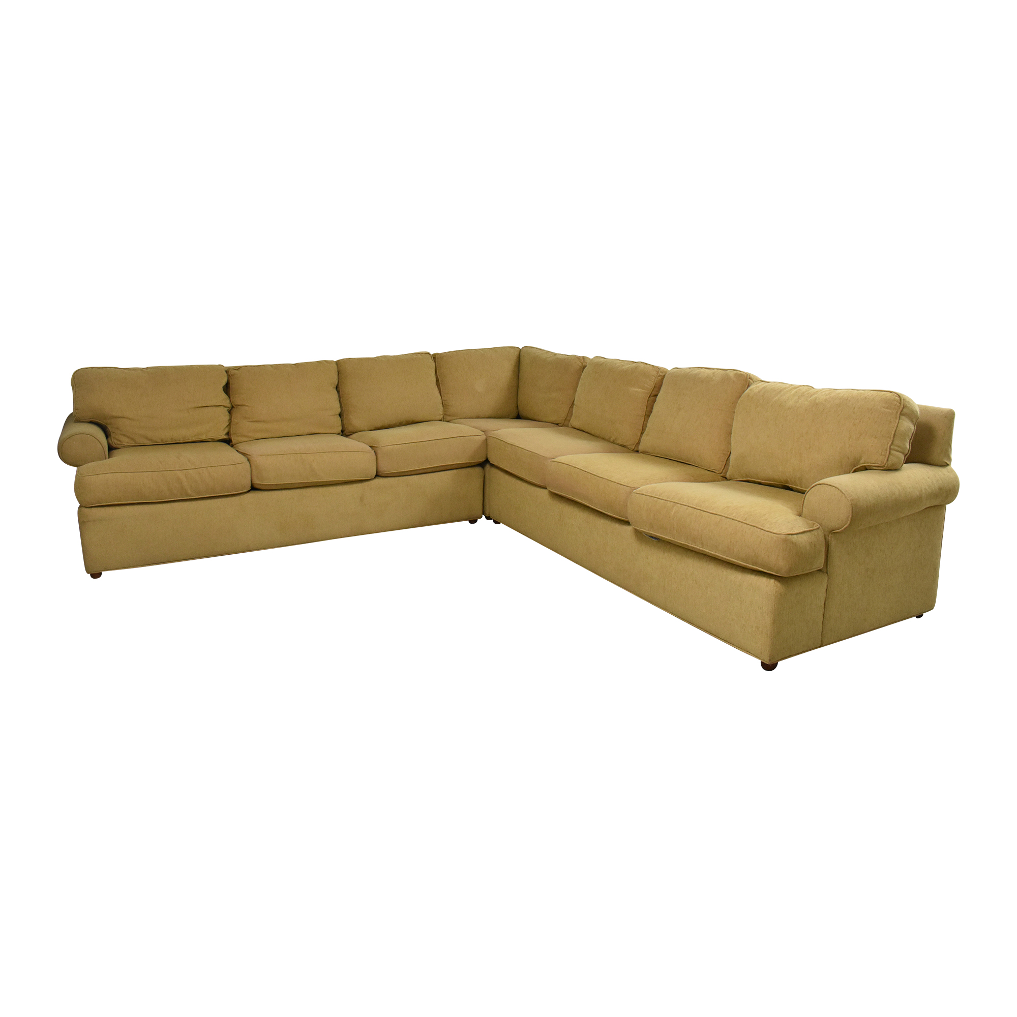 Ethan Allen Roll Arm Sectional Sofa sale
