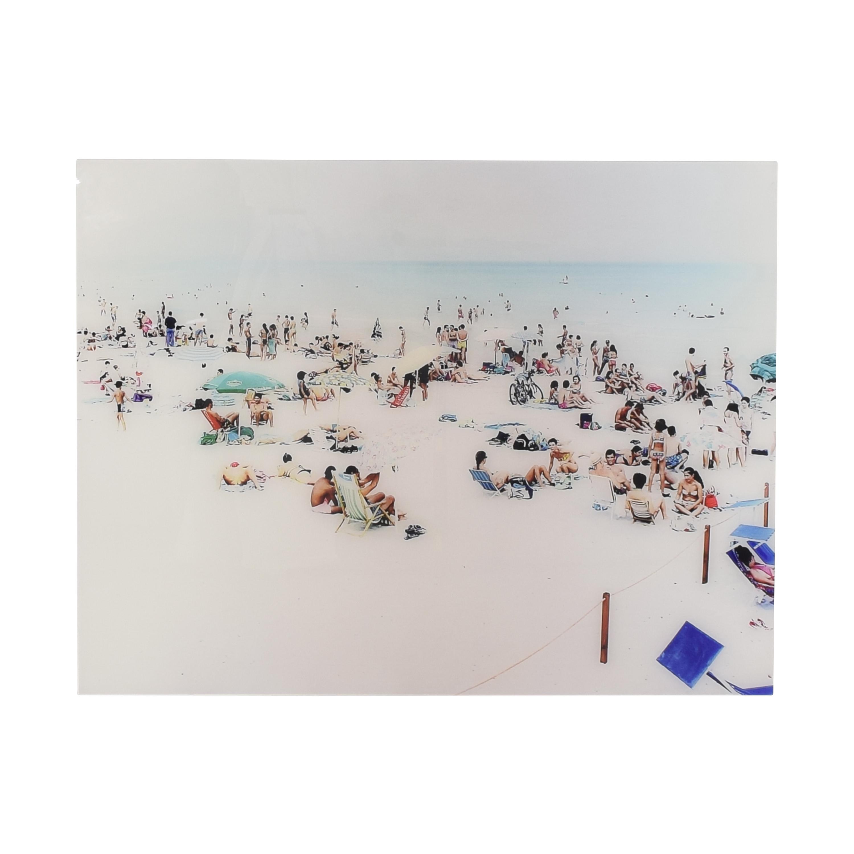 Massimo Vitali Caligari Blue Rectangle Print Wall Art nyc