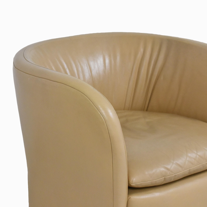 David Edward David Edward by John Saladino Barrel Chair tan