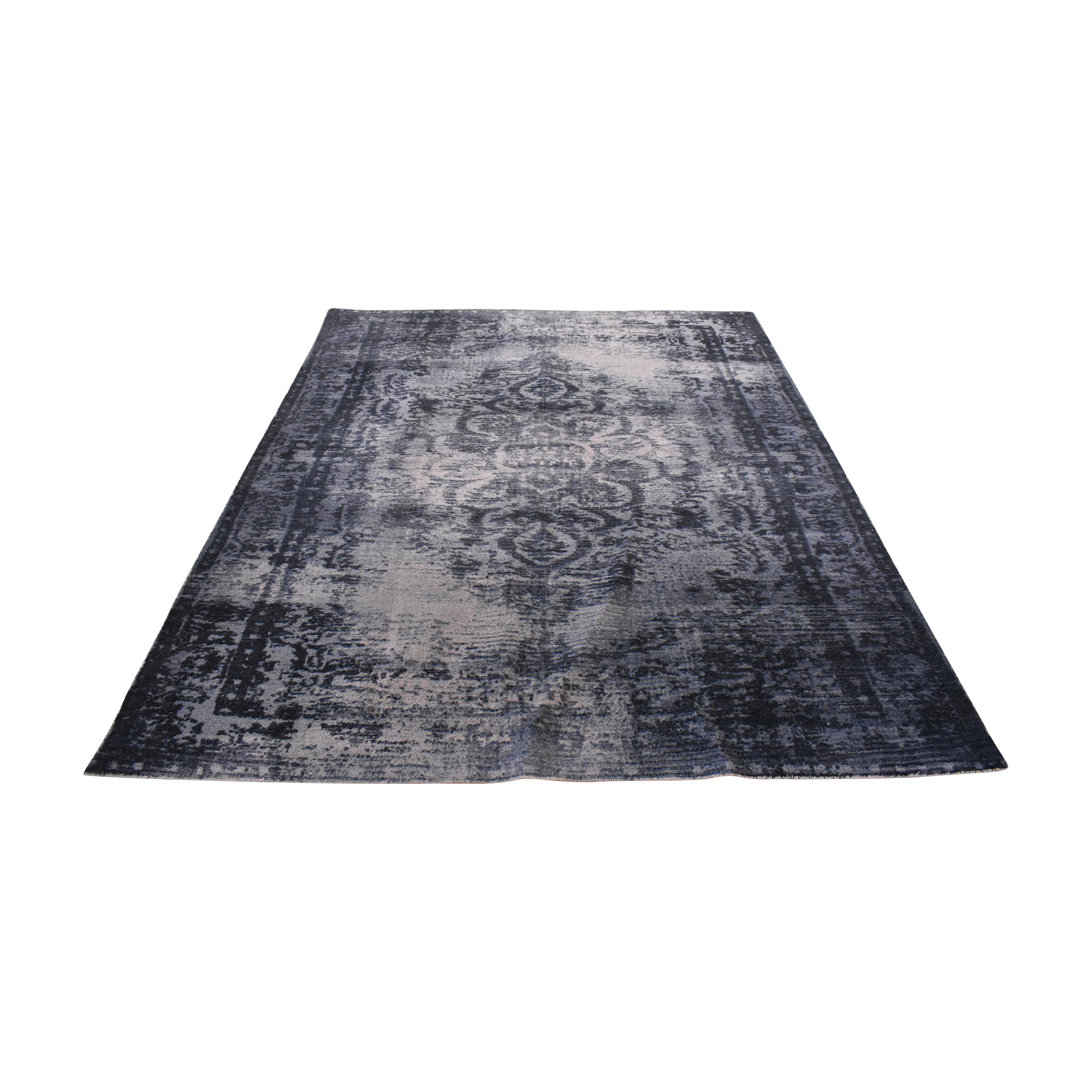 West Elm West Elm Distressed Arabesque Wool Rug pa
