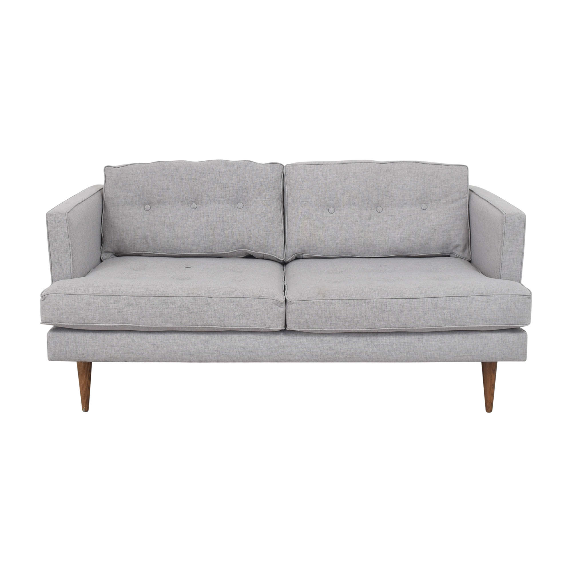 West Elm Peggy Mid Century Loveseat sale
