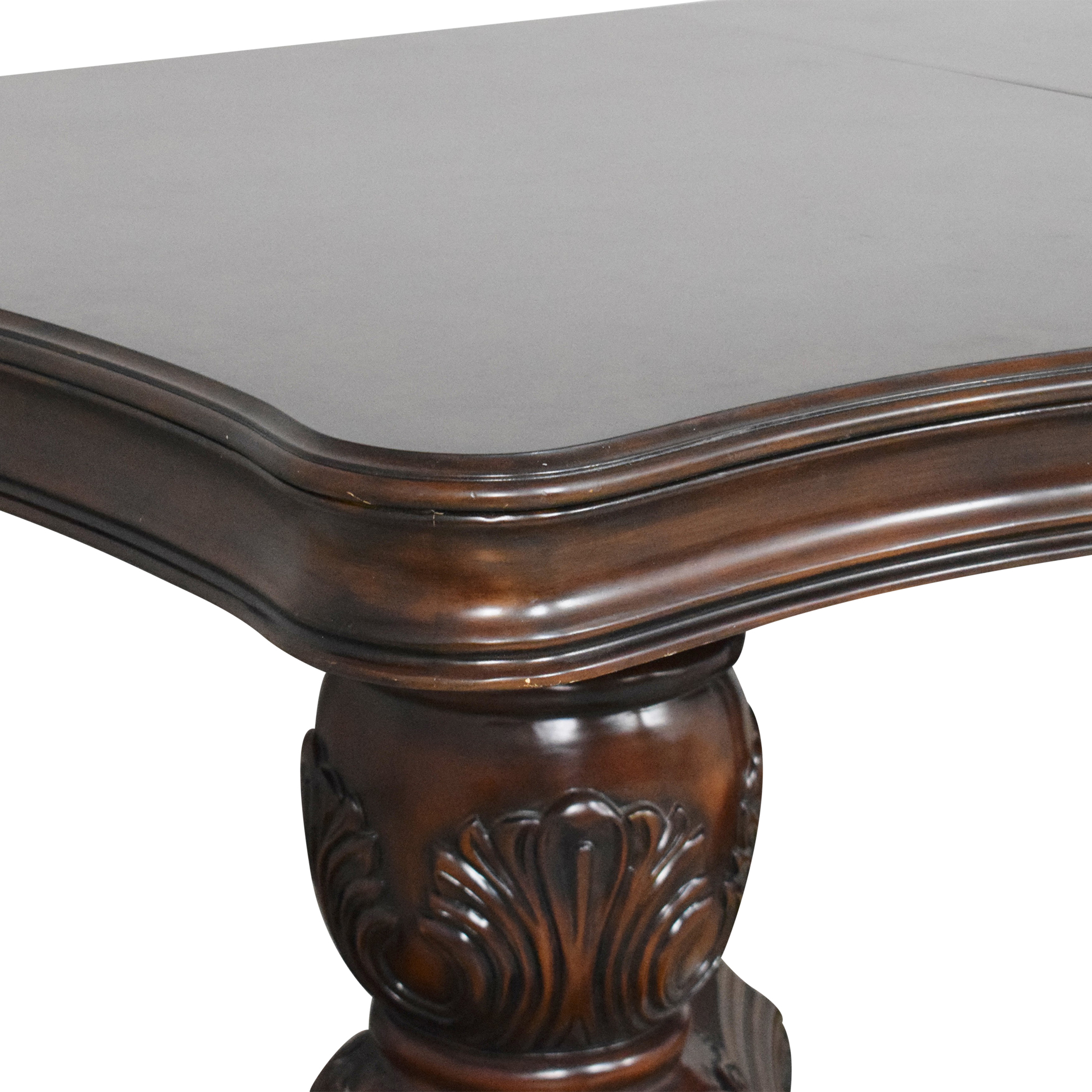 buy Raymour & Flanigan Double Pedestal Dining Table Raymour & Flanigan Dinner Tables