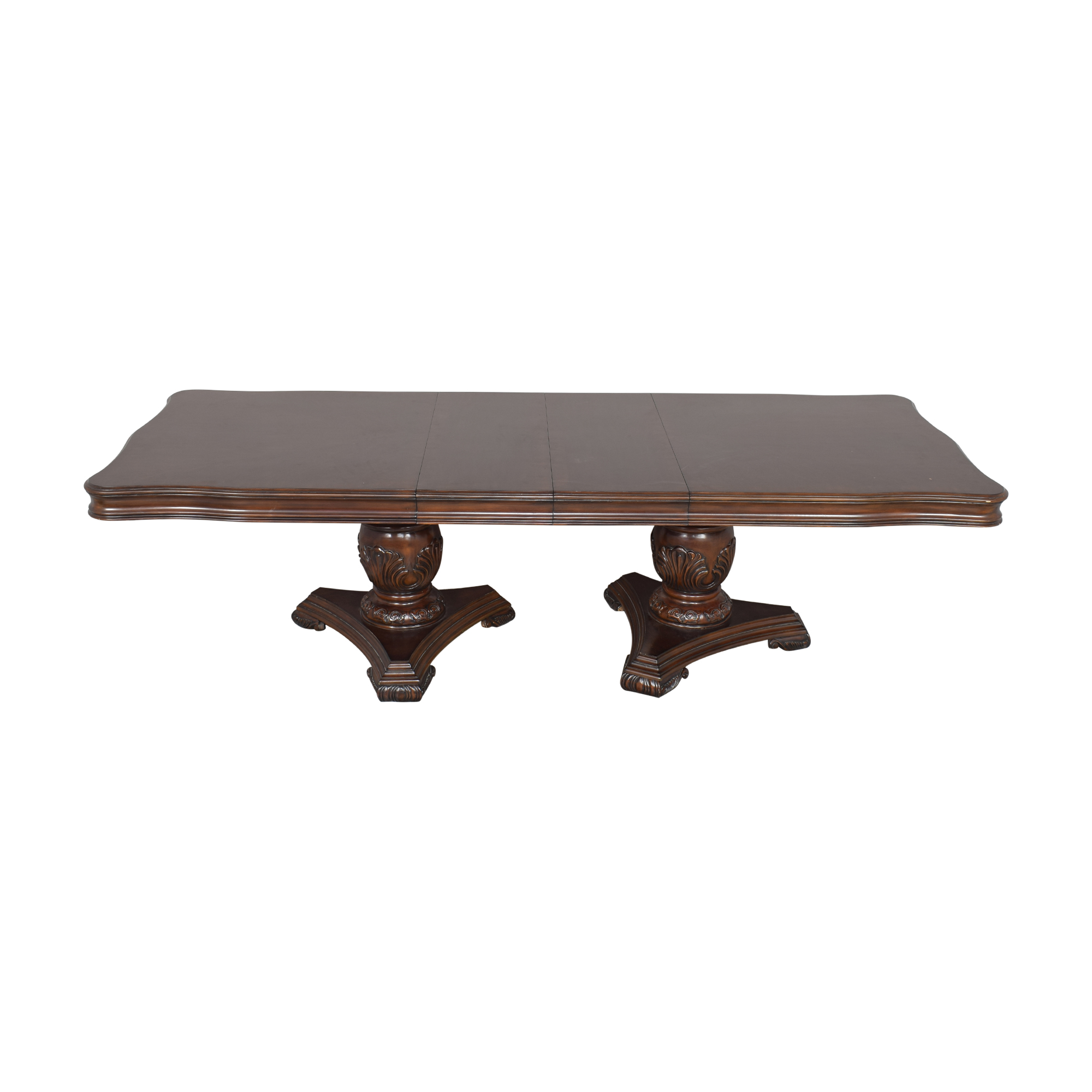 Raymour & Flanigan Raymour & Flanigan Double Pedestal Dining Table used