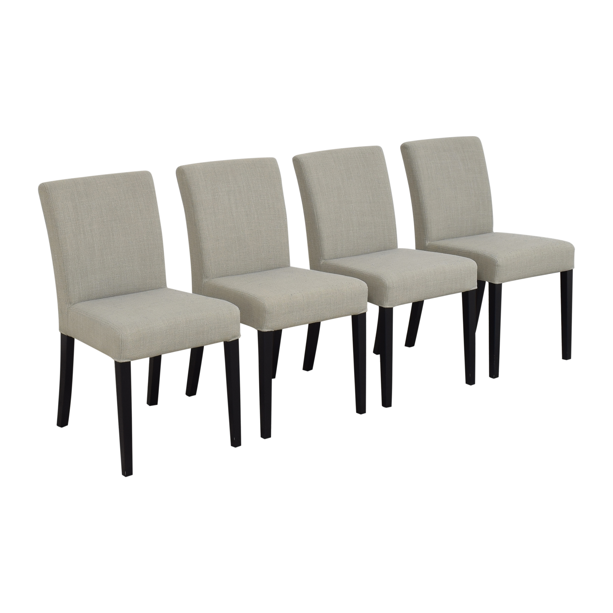 Crate & Barrel Crate & Barrel Miles Upholstered Dining Chairs for sale