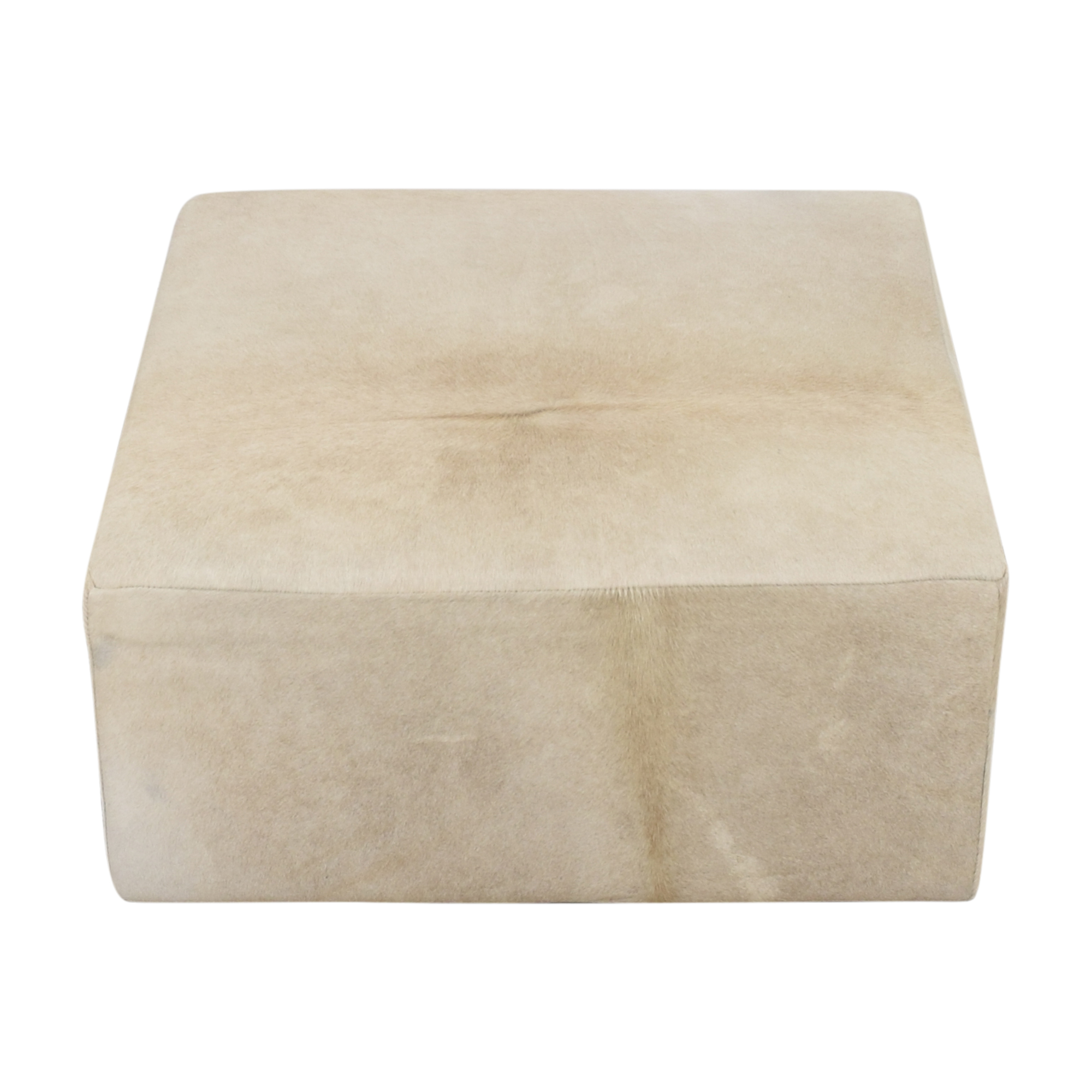 Restoration Hardware Restoration Hardware Cooper Hair-On-Hide Square Ottoman nyc