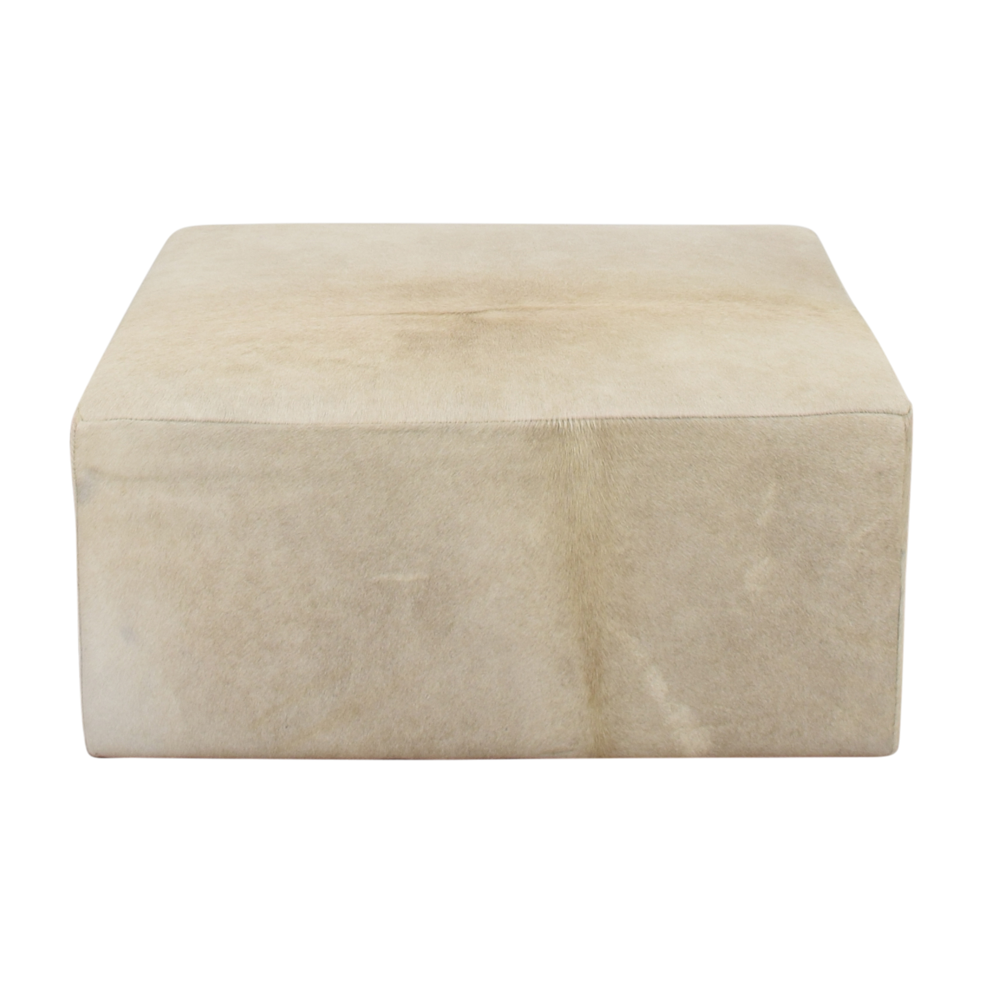 Restoration Hardware Restoration Hardware Cooper Hair-On-Hide Square Ottoman coupon