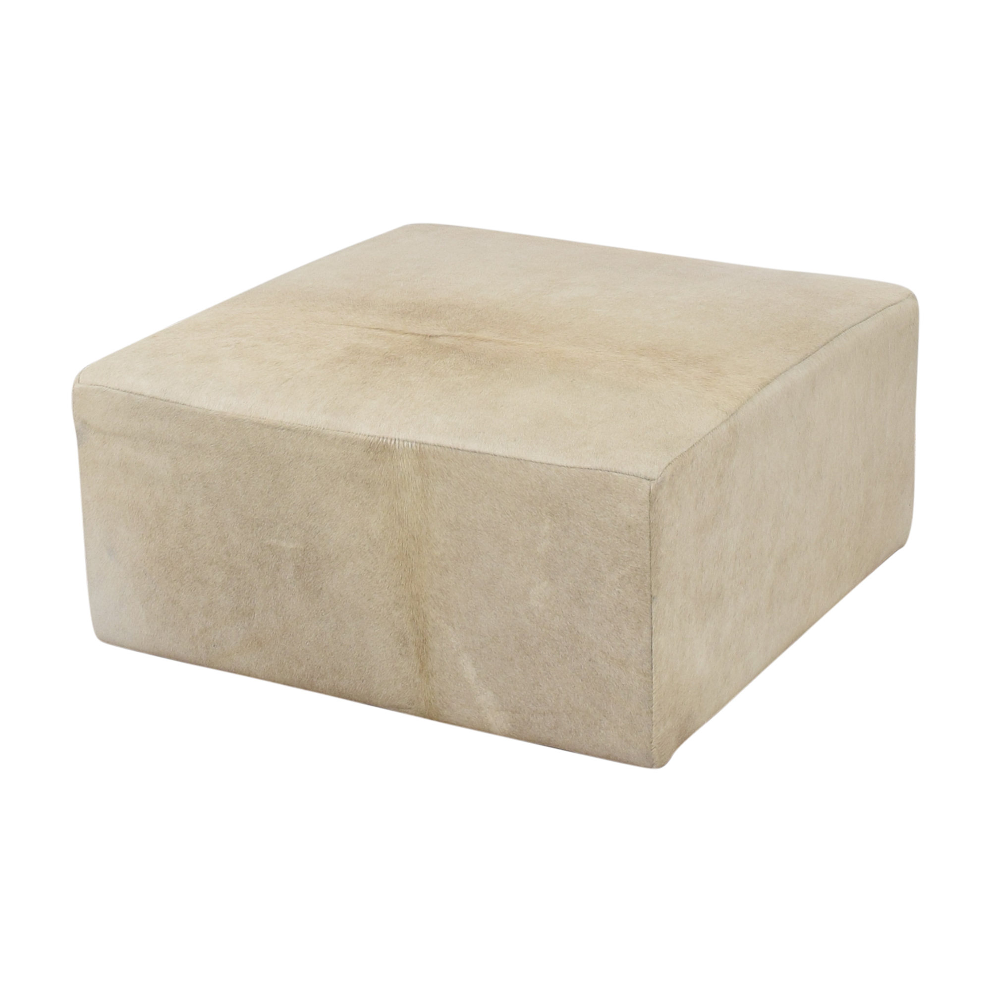 Restoration Hardware Restoration Hardware Cooper Hair-On-Hide Square Ottoman used