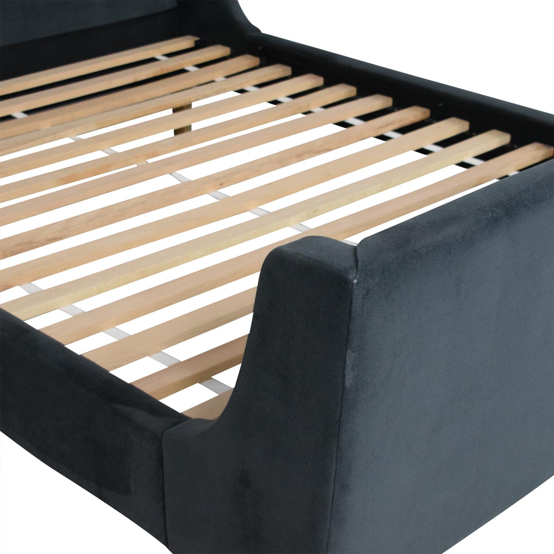 buy West Elm Upholstered Full Sleigh Bed West Elm Bed Frames