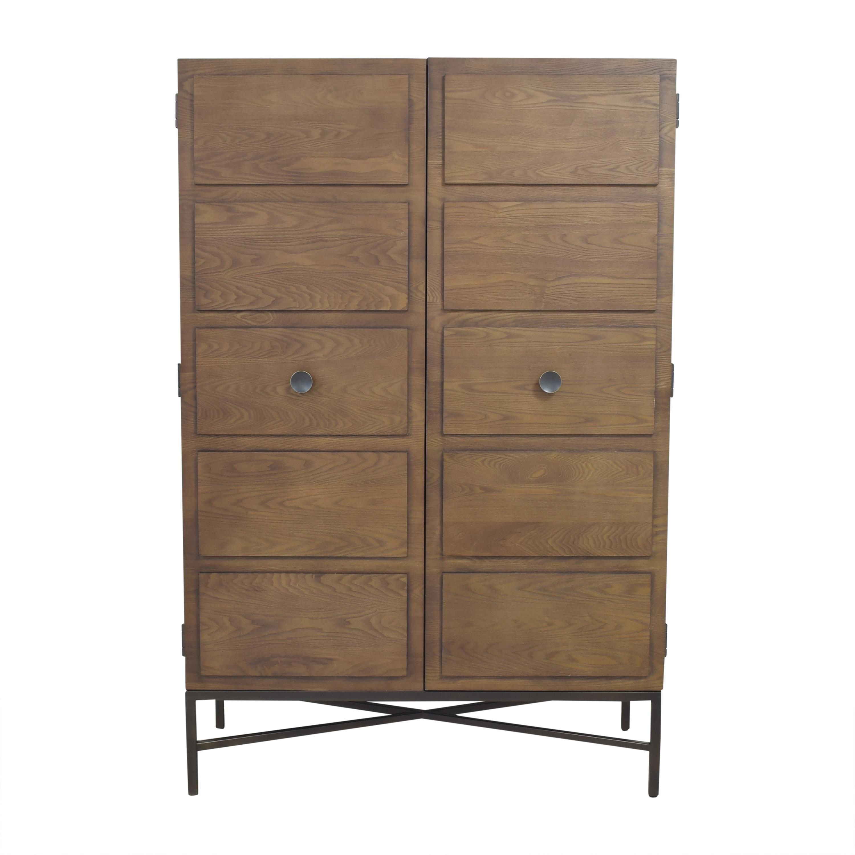 West Elm Paneled Armoire / Storage