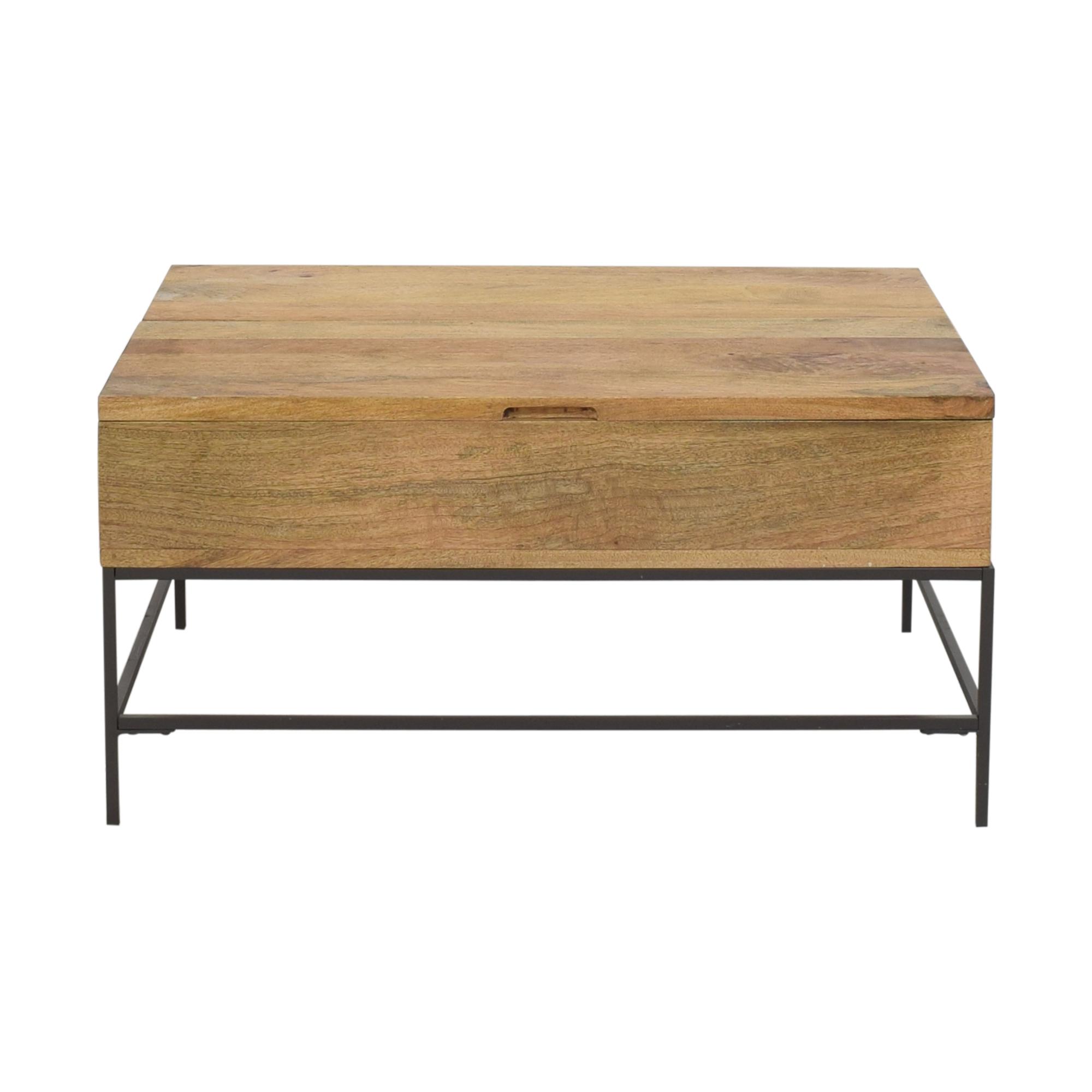West Elm West Elm Industrial Storage Pop Up Coffee Table on sale