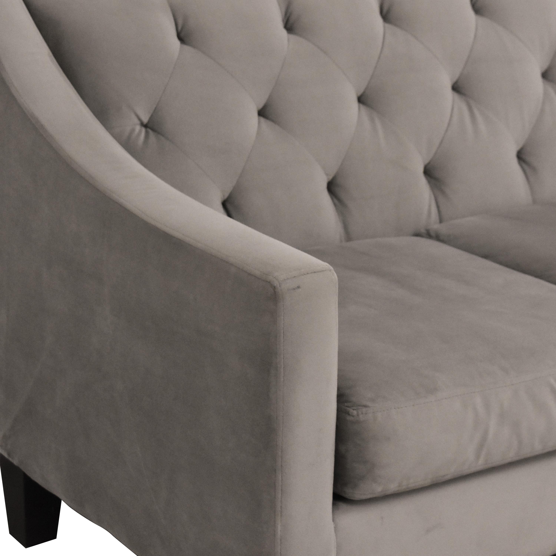 Macy's Macy's Chloe II Tufted Sofa on sale