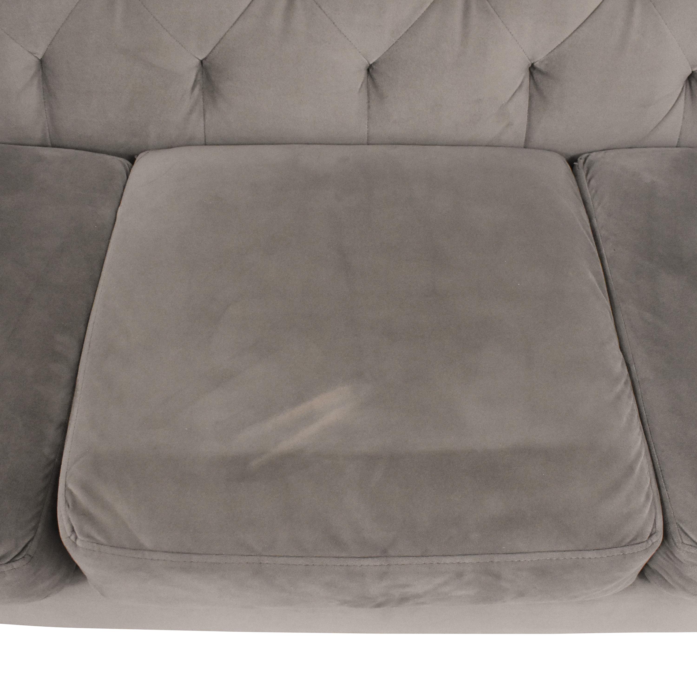 Macy's Macy's Chloe II Tufted Sofa for sale