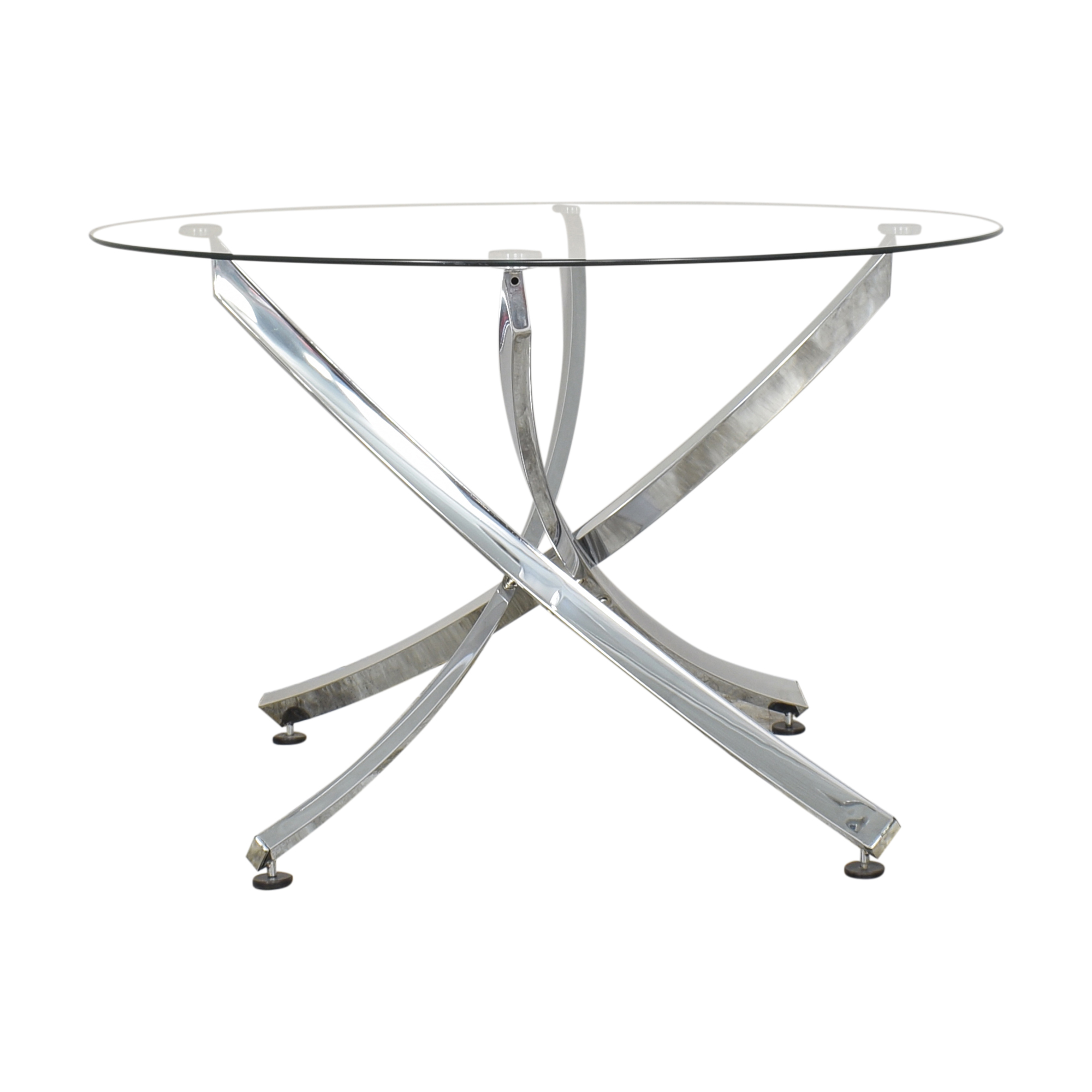 Round Transparent Dining Table Dinner Tables