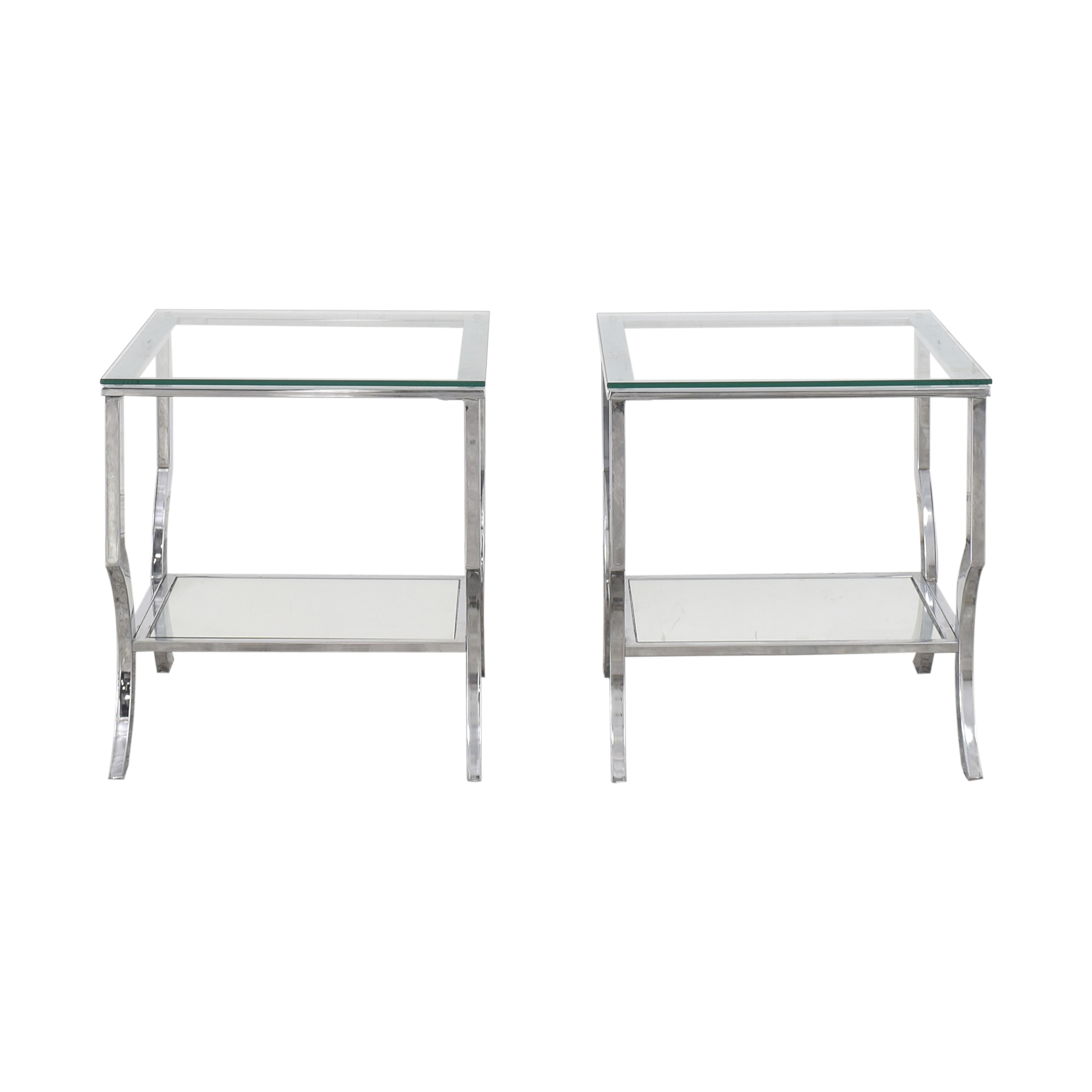 Transparent End Tables silver