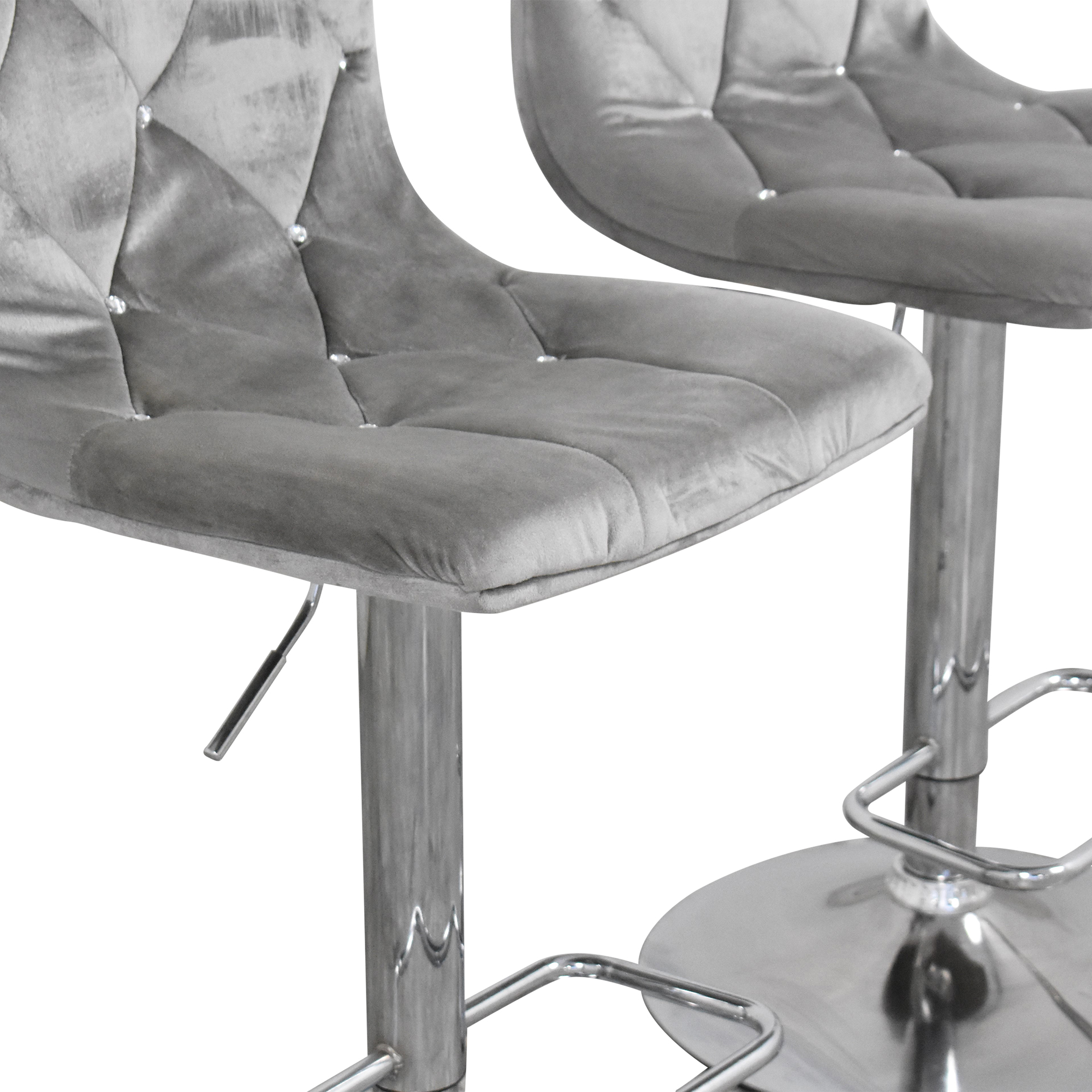 buy Diamond-Tufted Swivel Bar Stools  Chairs