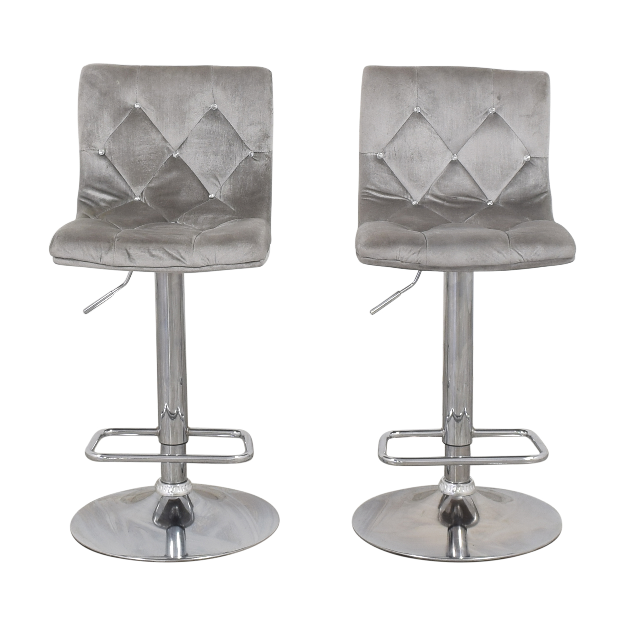 buy  Diamond-Tufted Swivel Bar Stools online