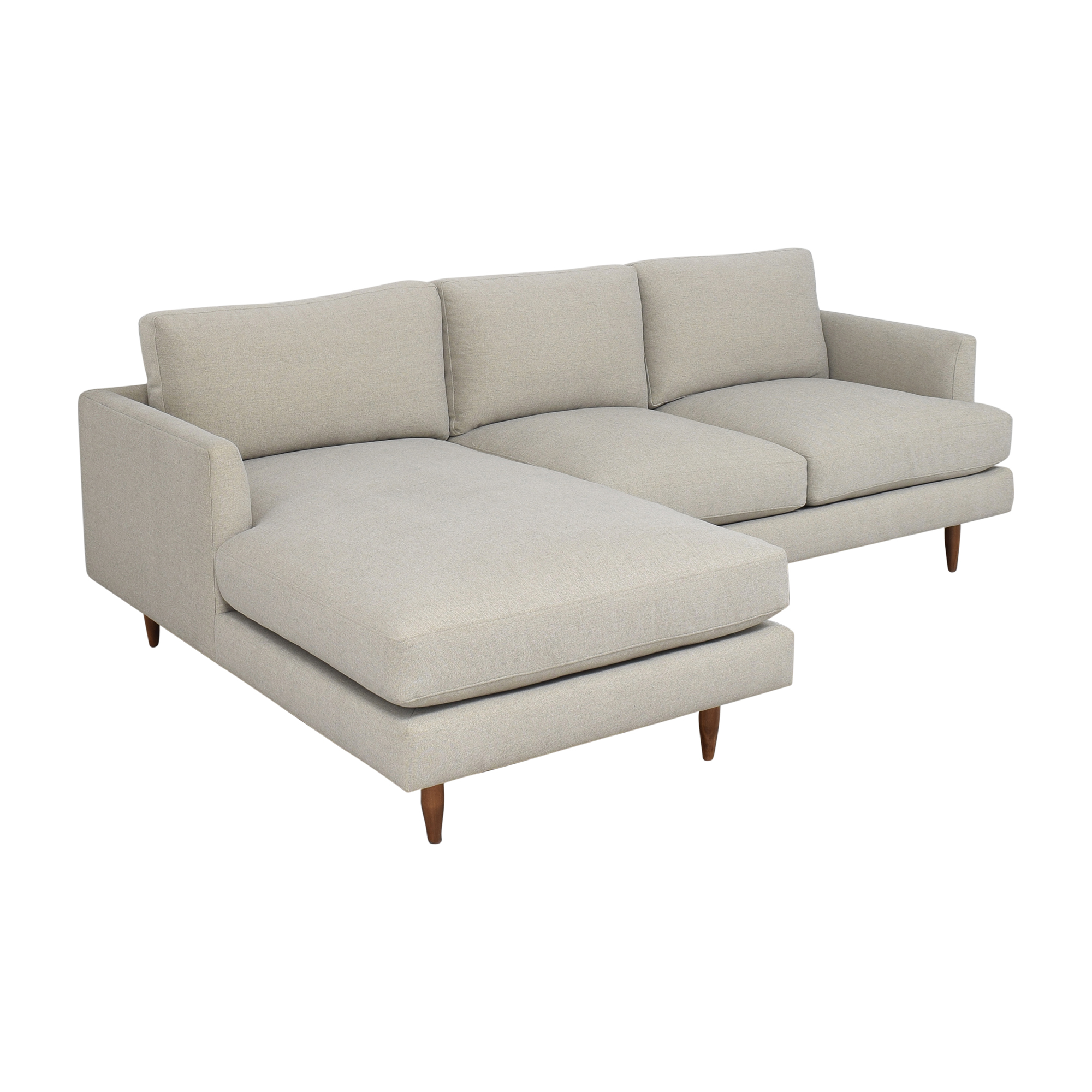 BenchMade Modern BenchMade Modern Crowd Pleaser Sofa With Chaise Sectionals
