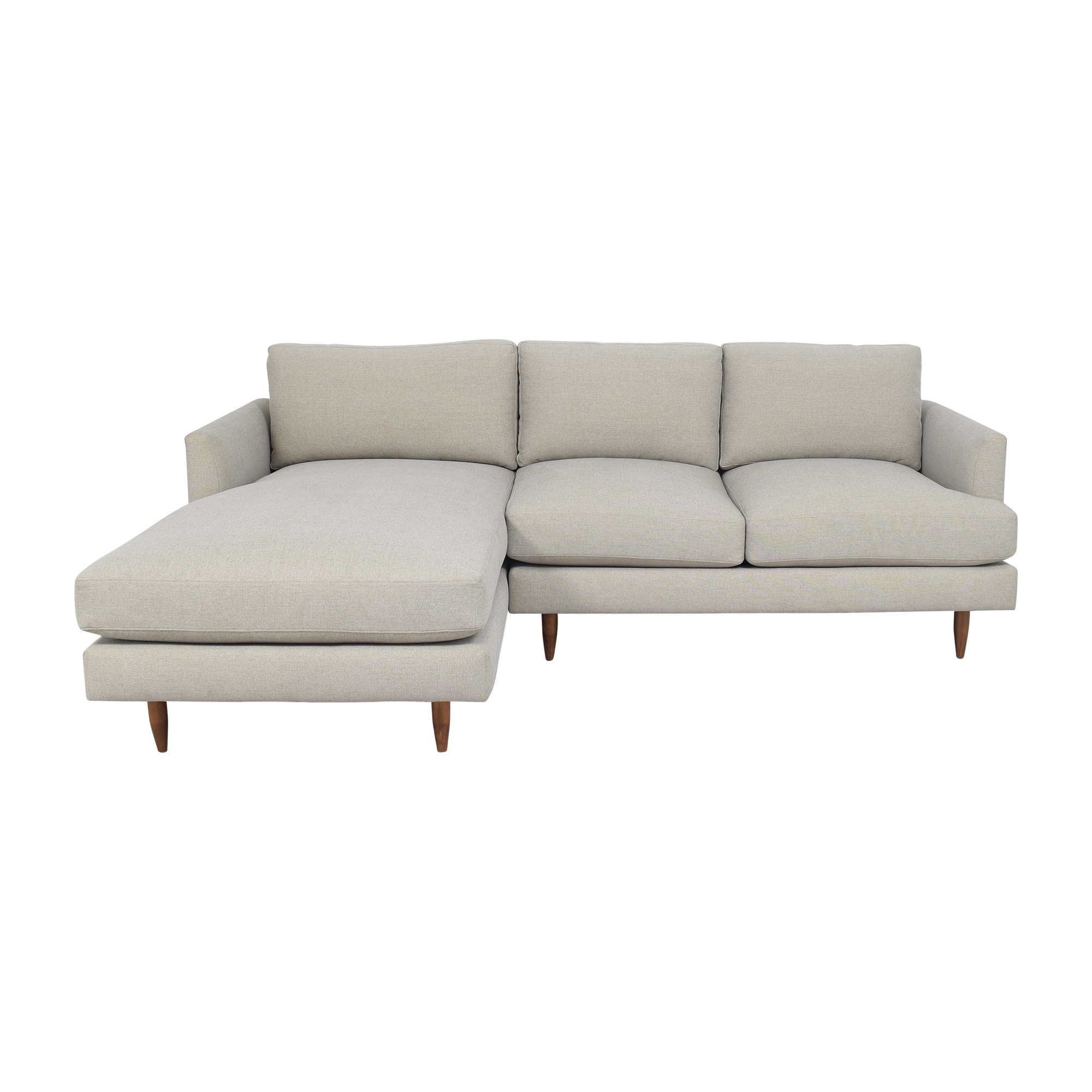 shop BenchMade Modern Crowd Pleaser Sofa With Chaise BenchMade Modern Sectionals
