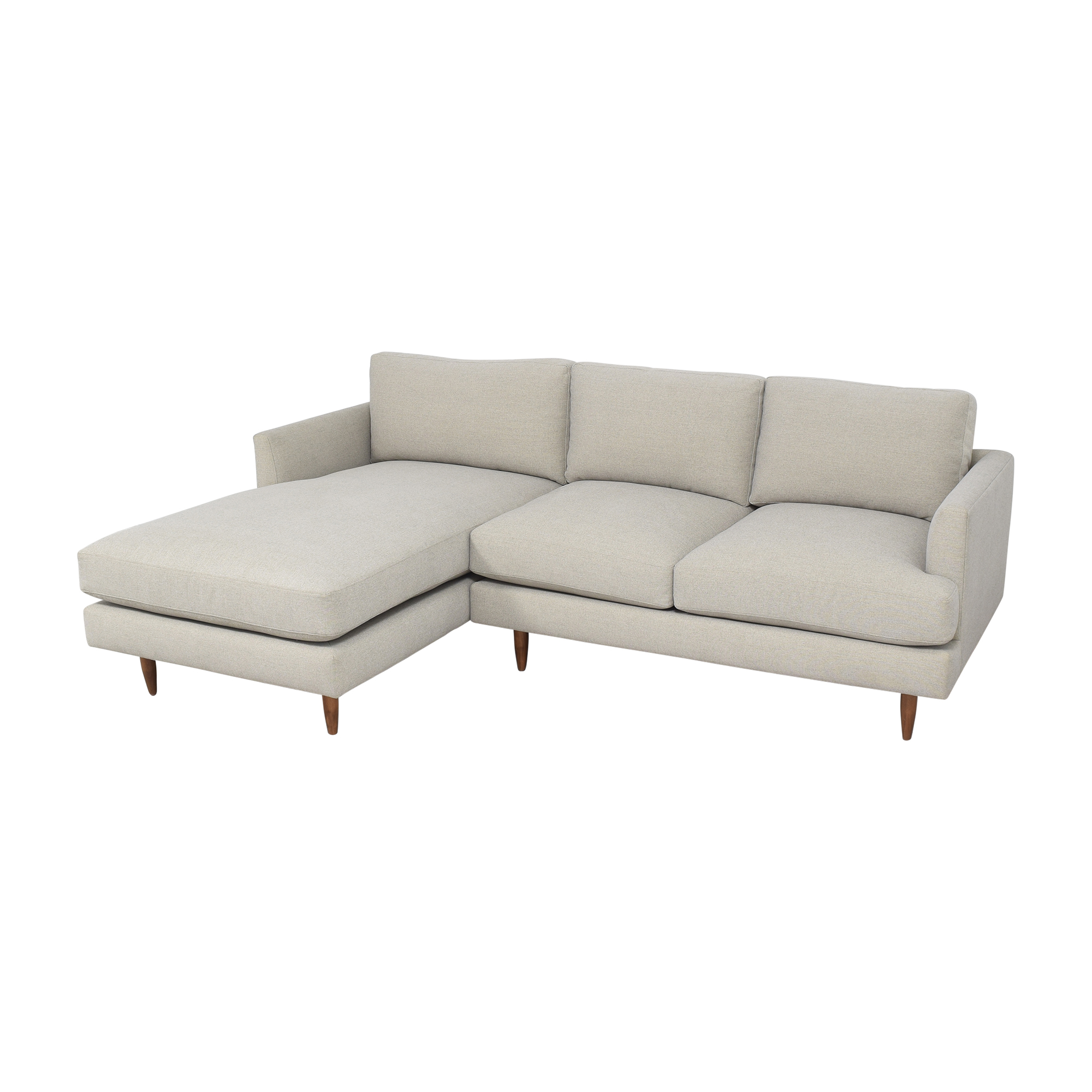 BenchMade Modern Crowd Pleaser Sofa With Chaise / Sectionals