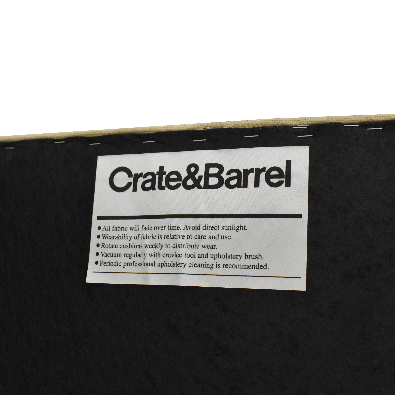 Crate & Barrel Upholstered Bench Crate & Barrel
