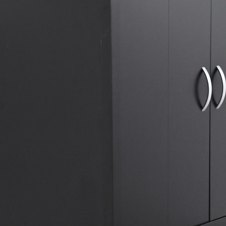 Solid & Basic Two Door Wardrobe sale
