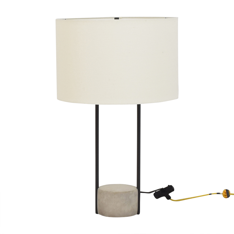 buy West Elm Industrial Outline Table Lamp West Elm Decor