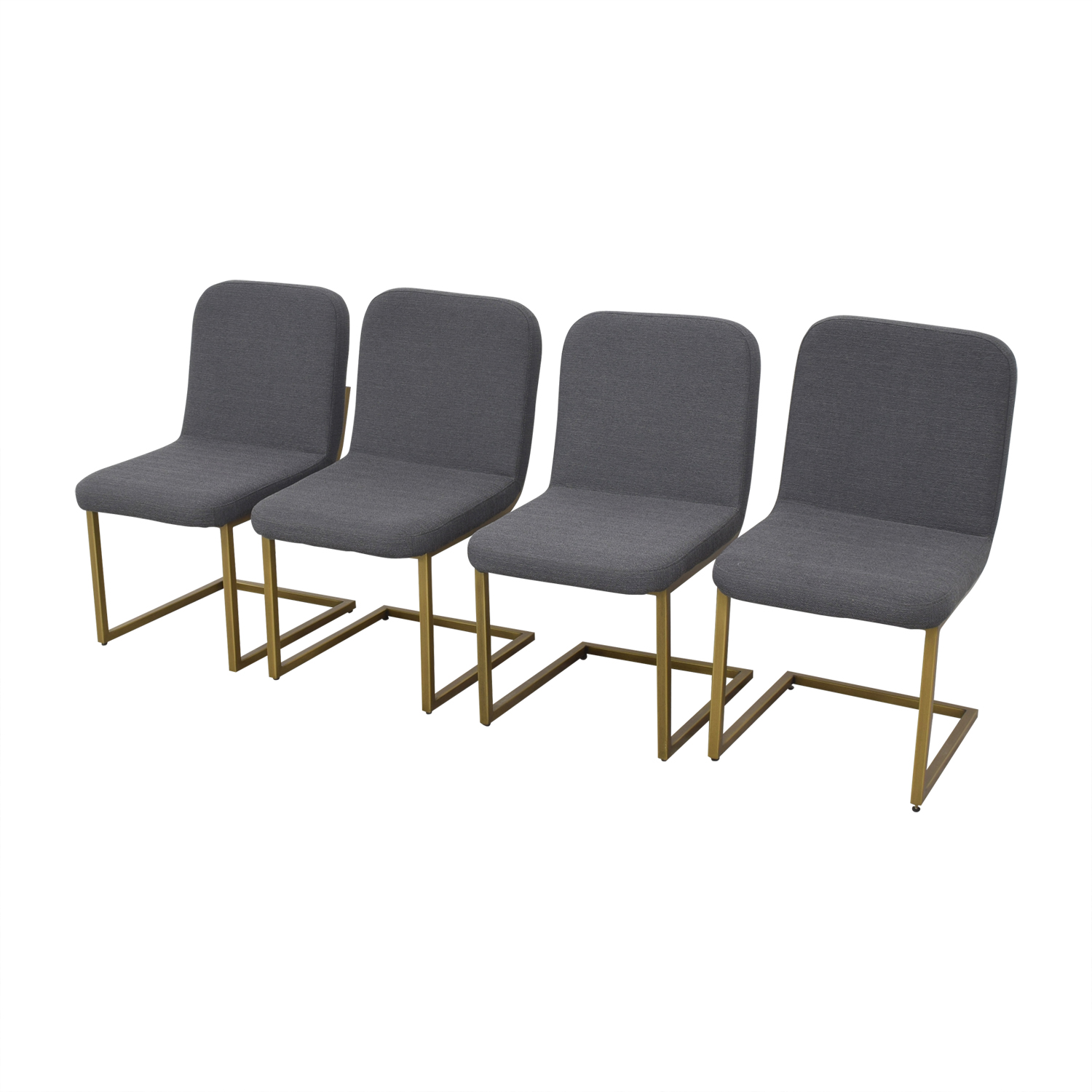 Article Article Alchemy Dining Chairs dark gray and gold