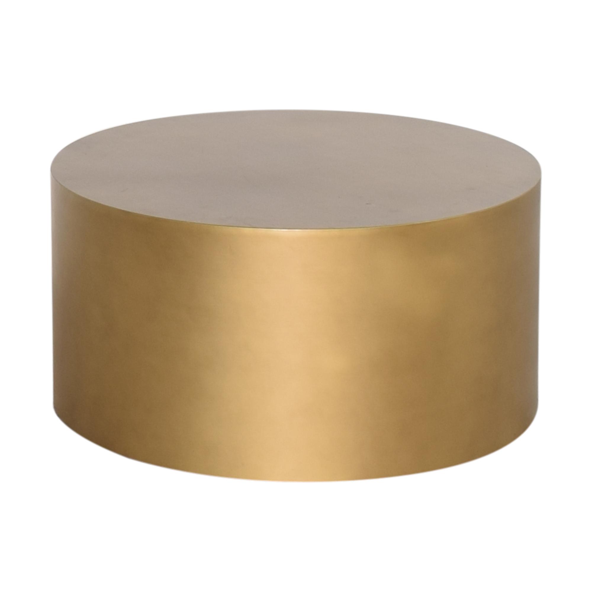 West Elm West Elm Drum Coffee Table gold