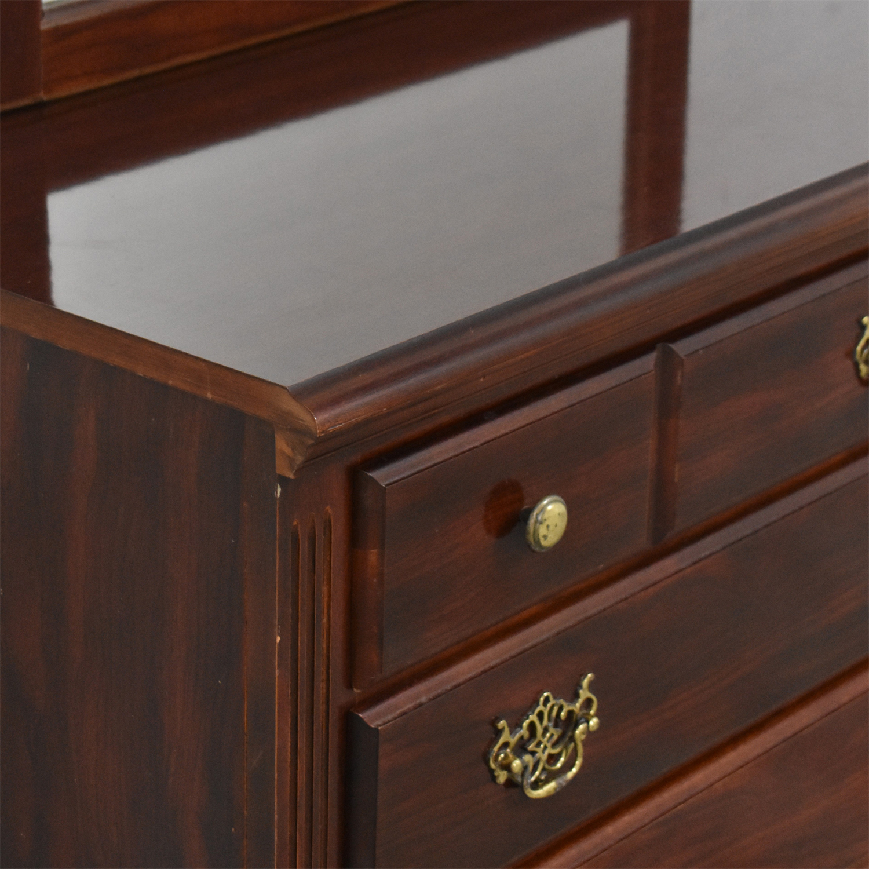 Three Drawer Chippendale Dresser with Mirror