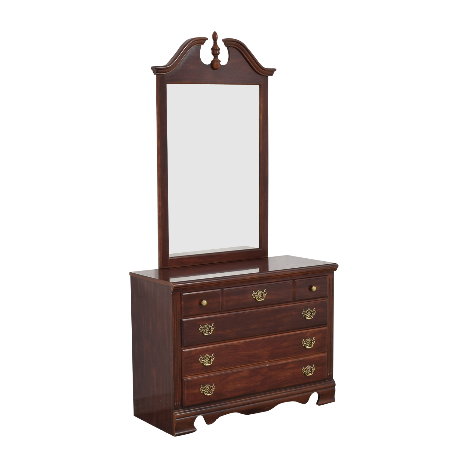 Three Drawer Chippendale Dresser with Mirror discount