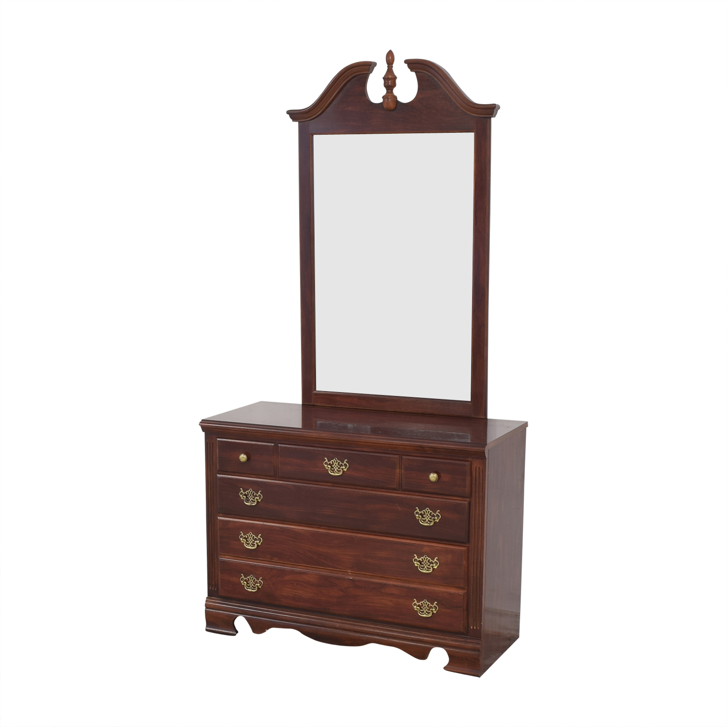 Three Drawer Chippendale Dresser with Mirror on sale