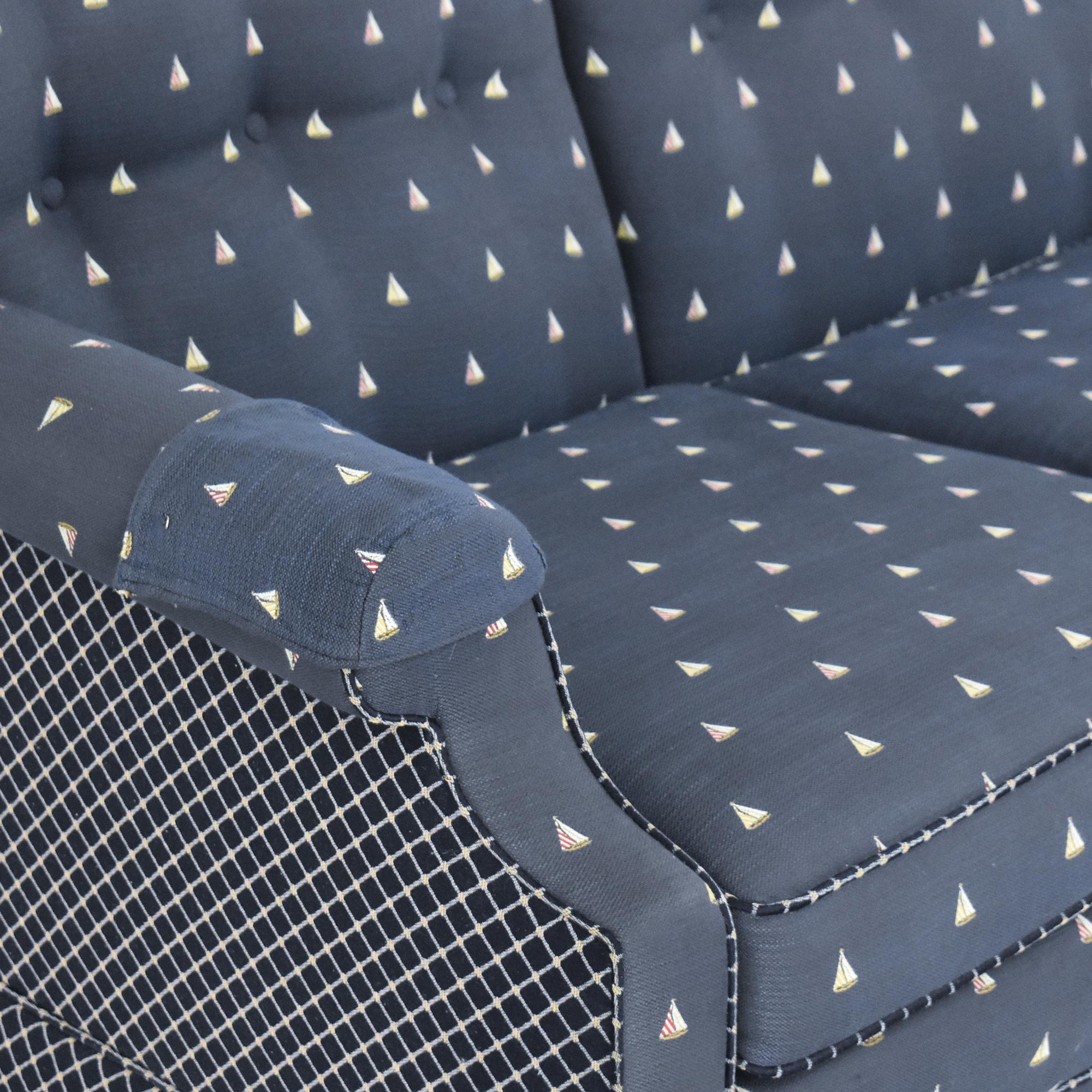 Nautical Patterned Three Cushion Sofa pa